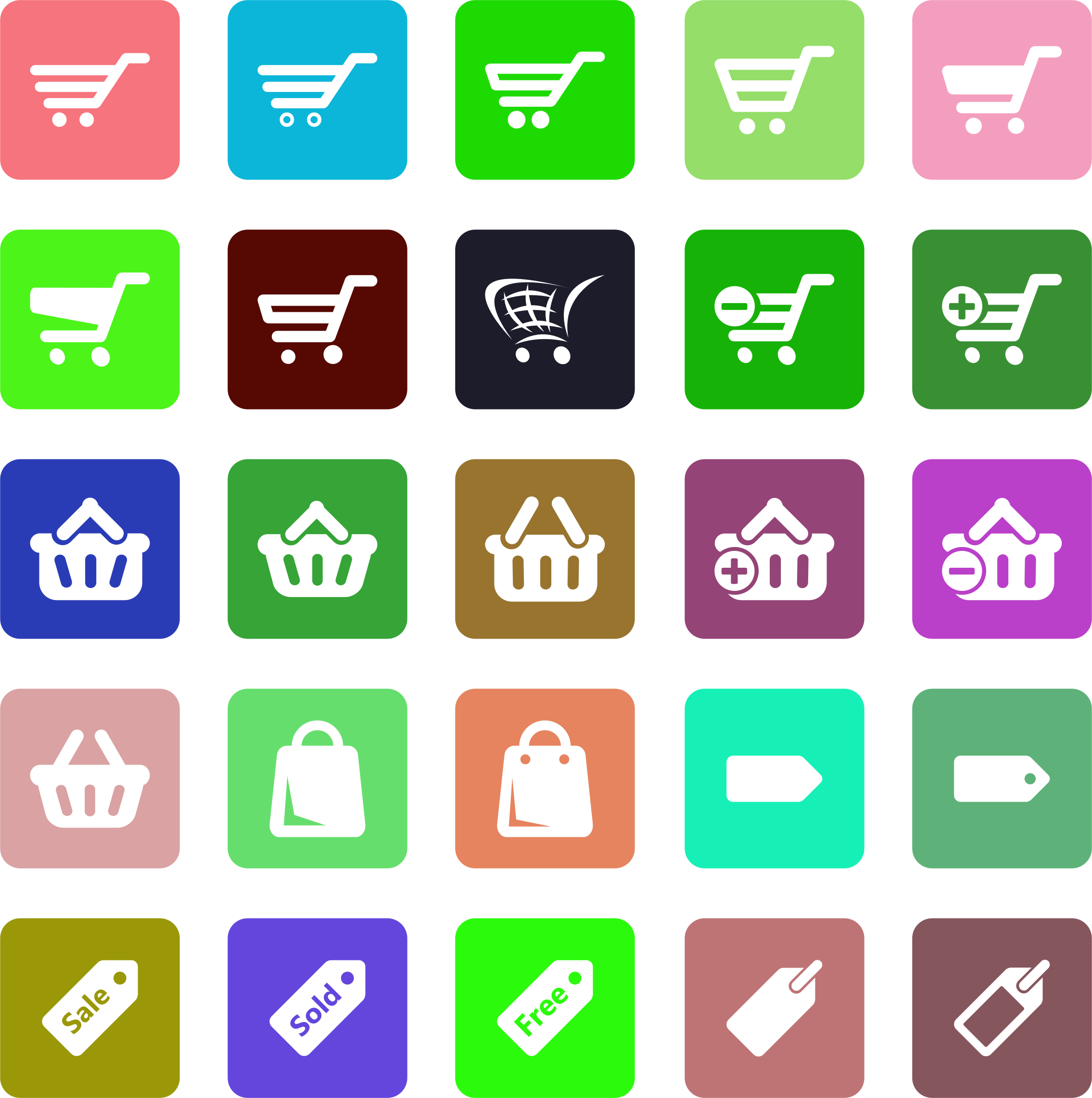 Commerce Icons Set by GDJ