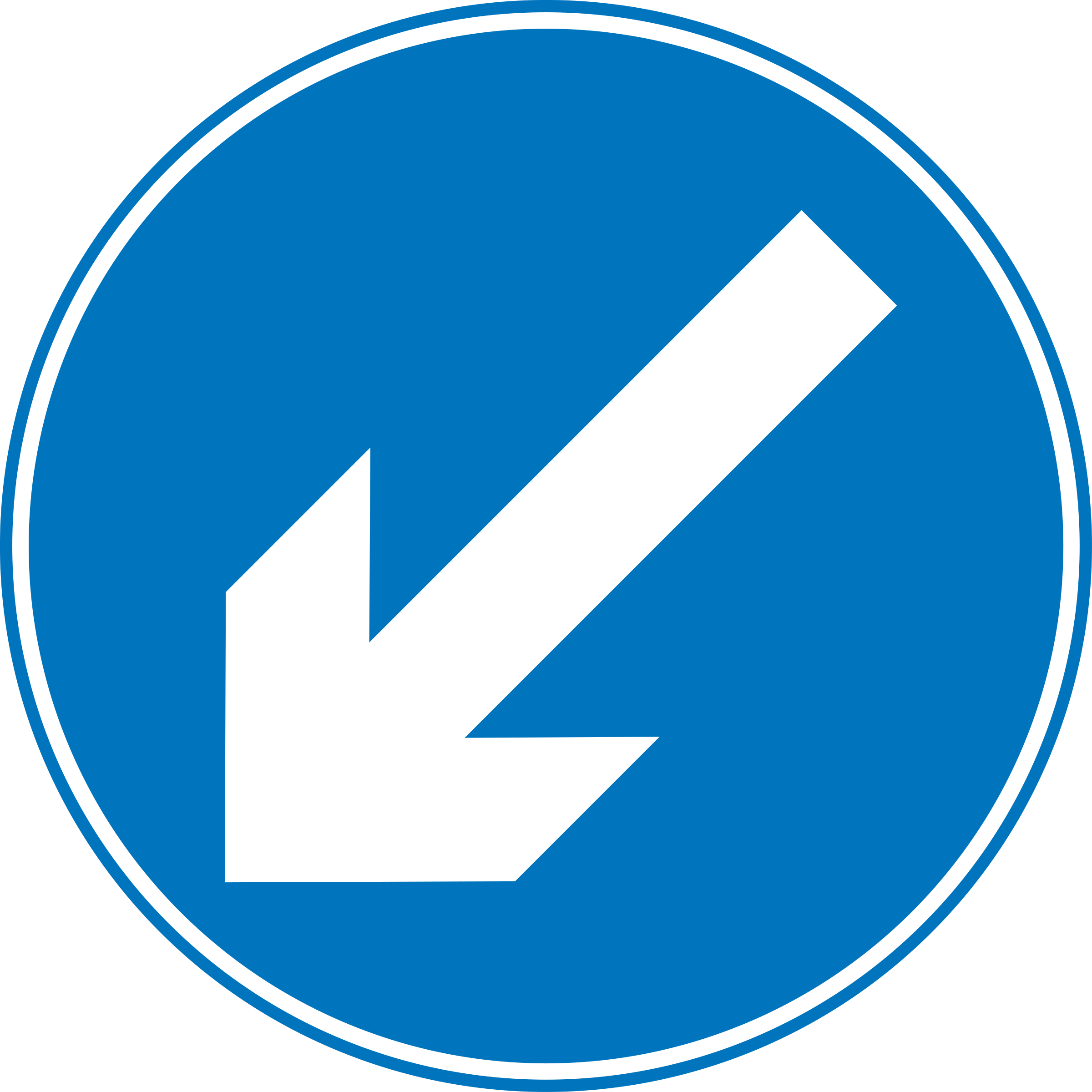 Roadsign Keep left by Simarilius