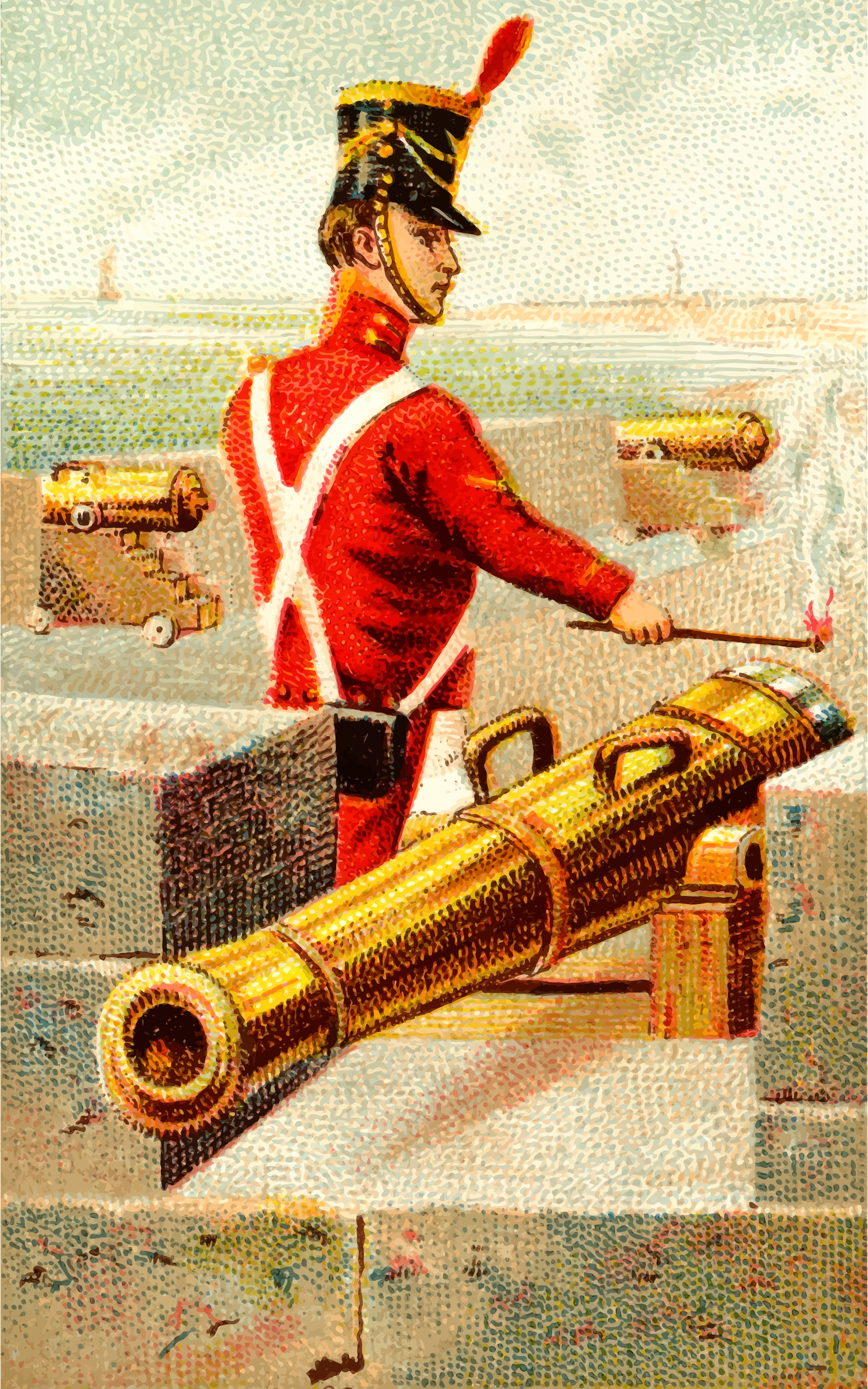 Cigarette card - Cannon by Firkin