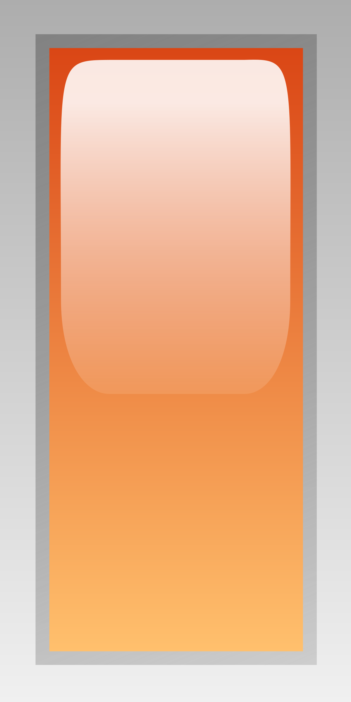 led rectangular h orange by jean_victor_balin