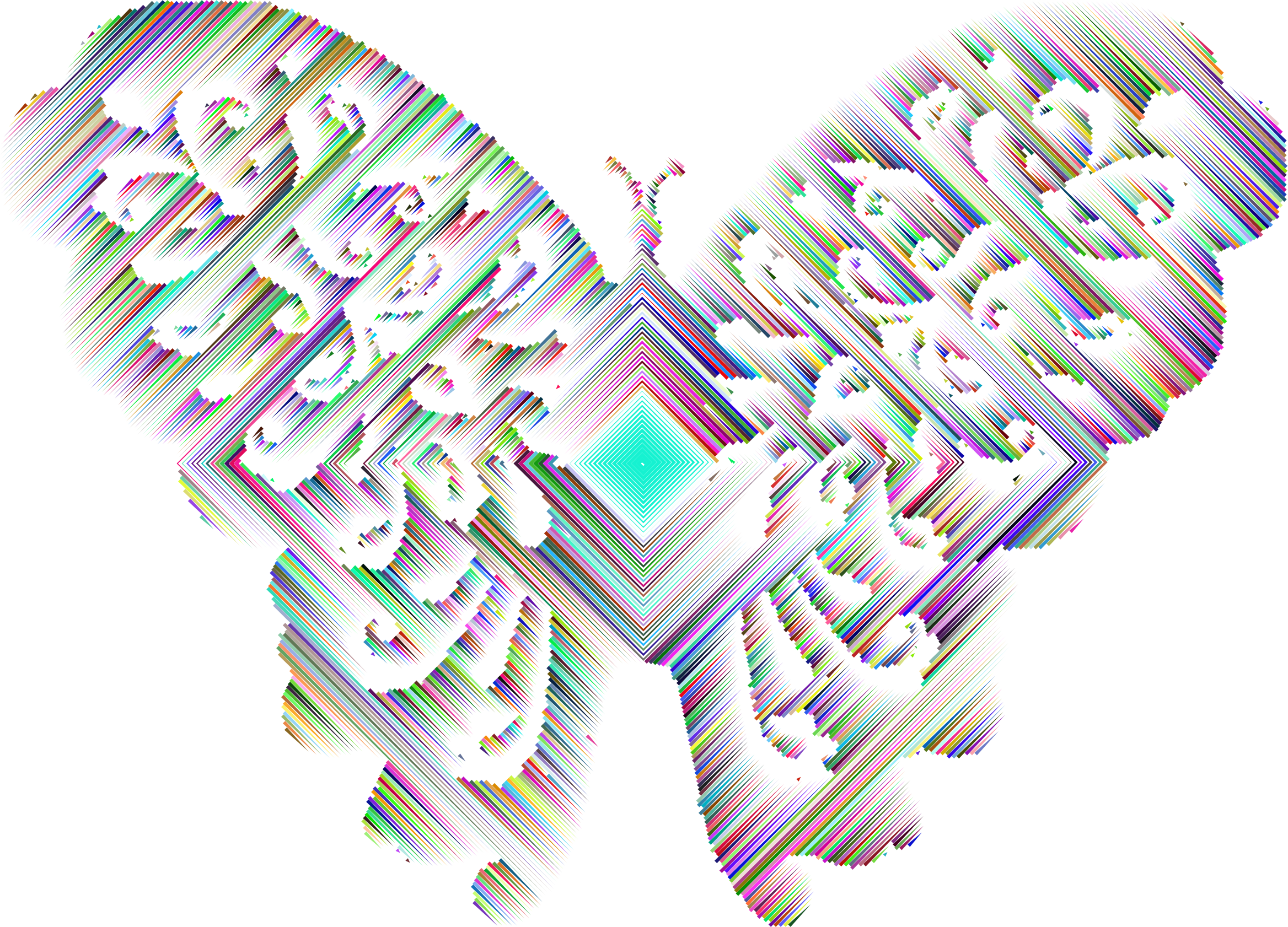 Prismatic Contemporary Art Flourishful Butterfly by GDJ