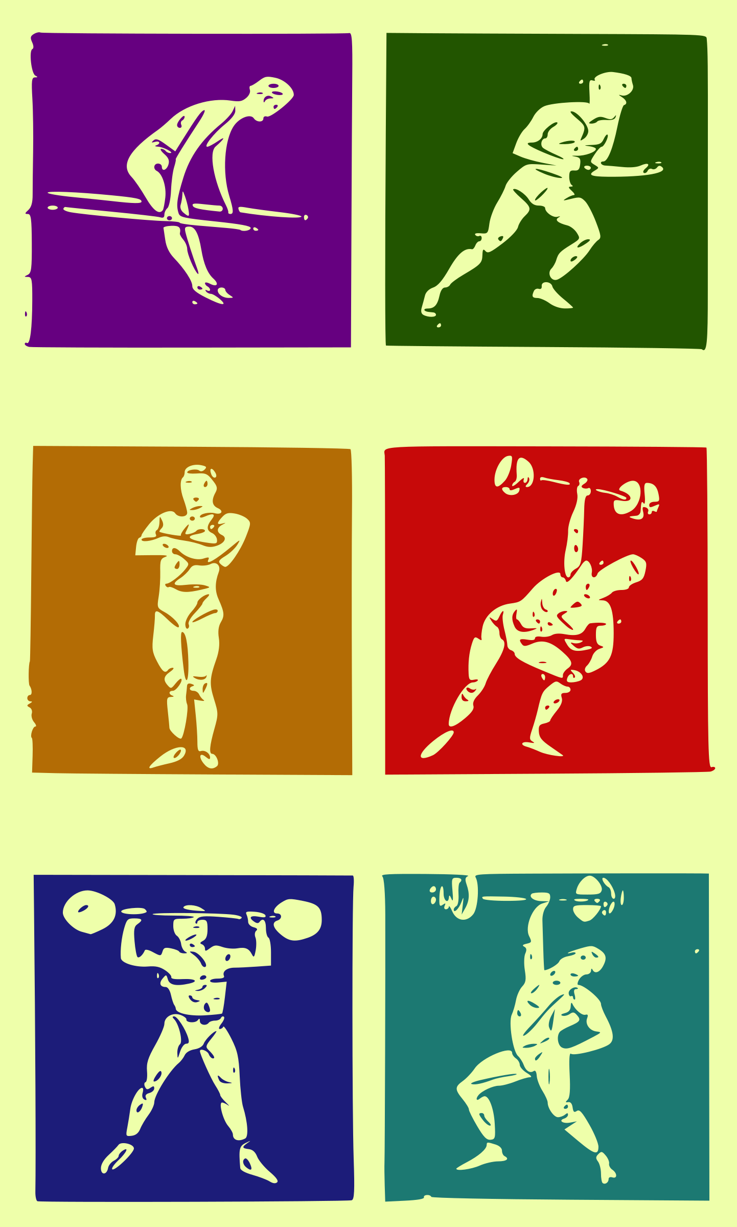 Workout Icons - Colour by j4p4n
