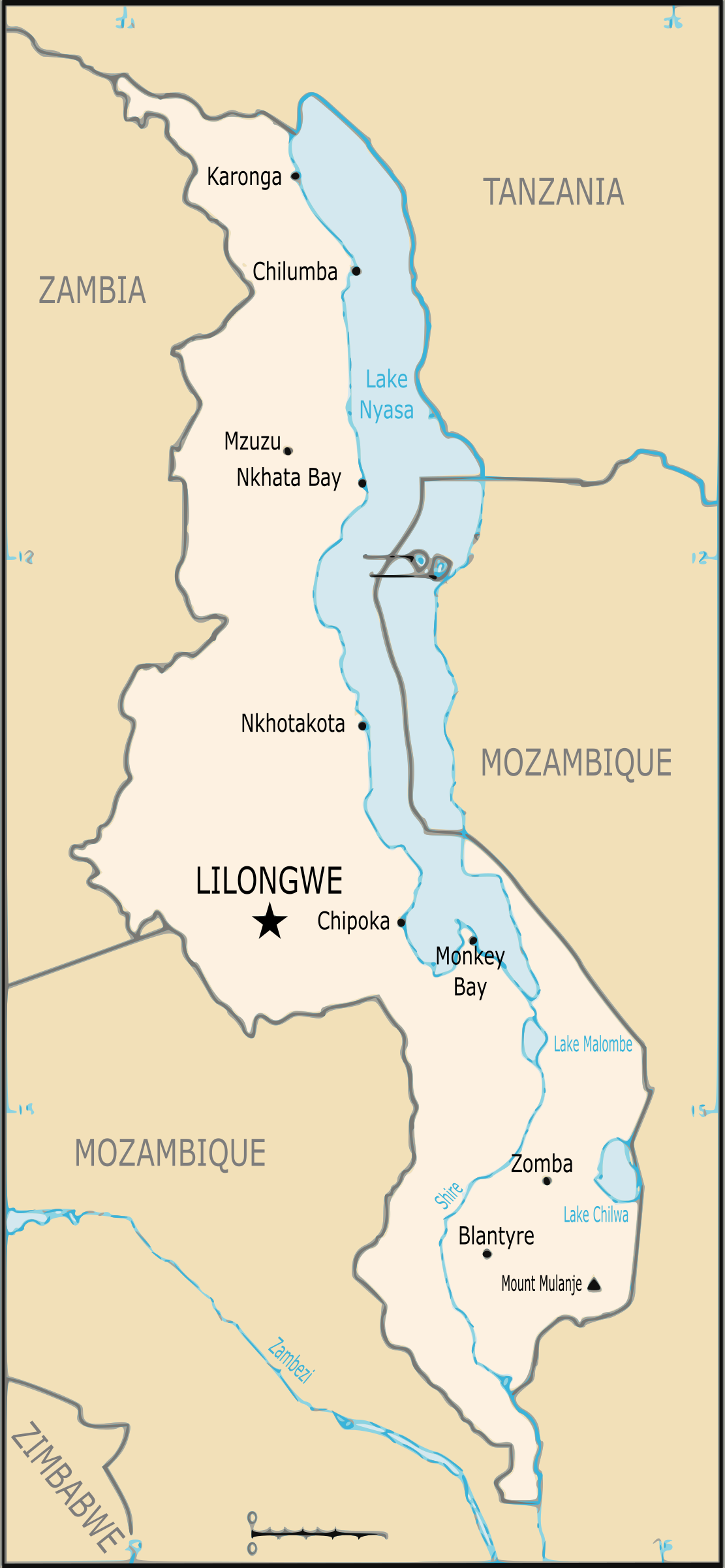 Map of Malawi by j4p4n