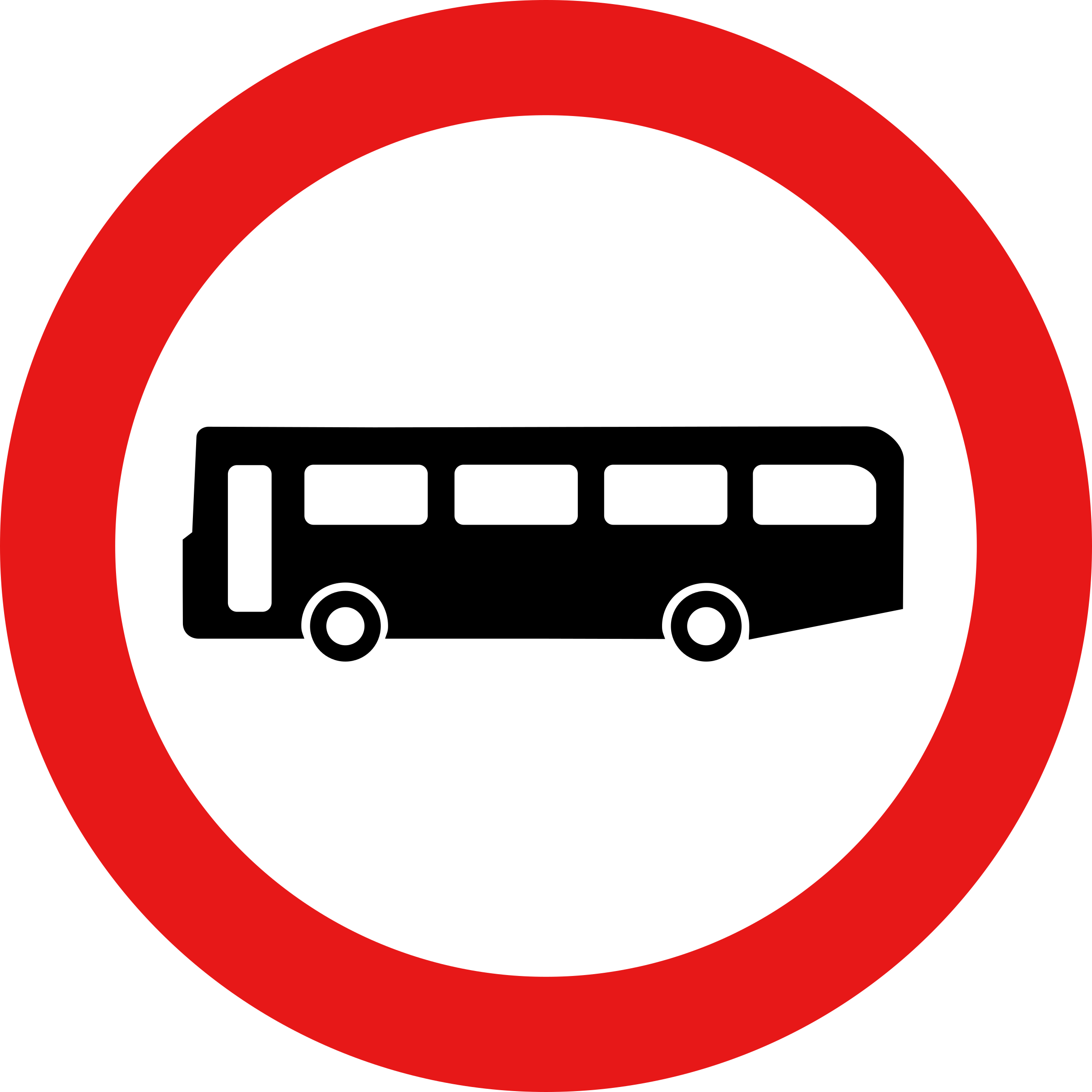 Roadsign no buses by Simarilius