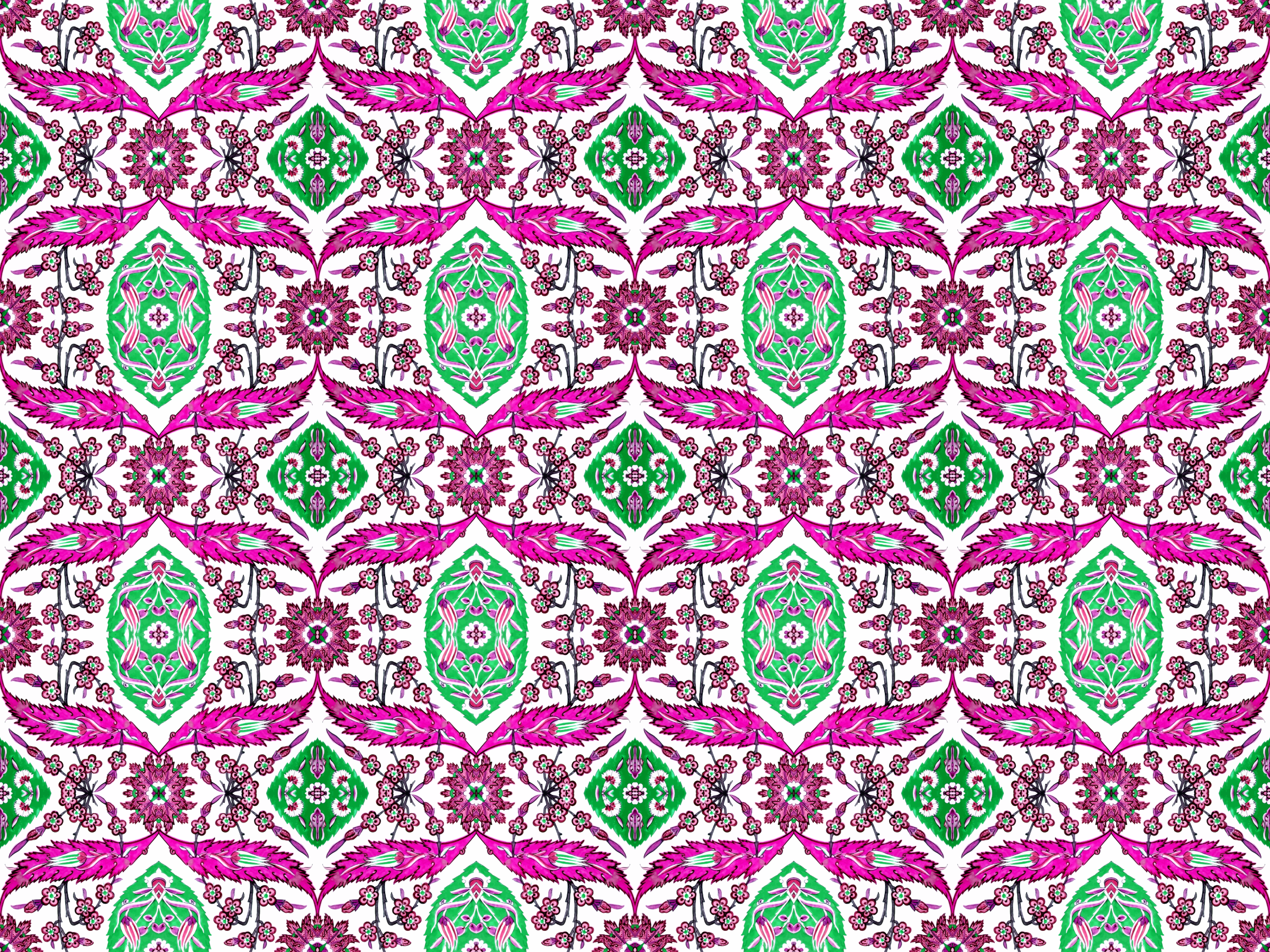 Floral pattern 6 (colour 2) by Firkin