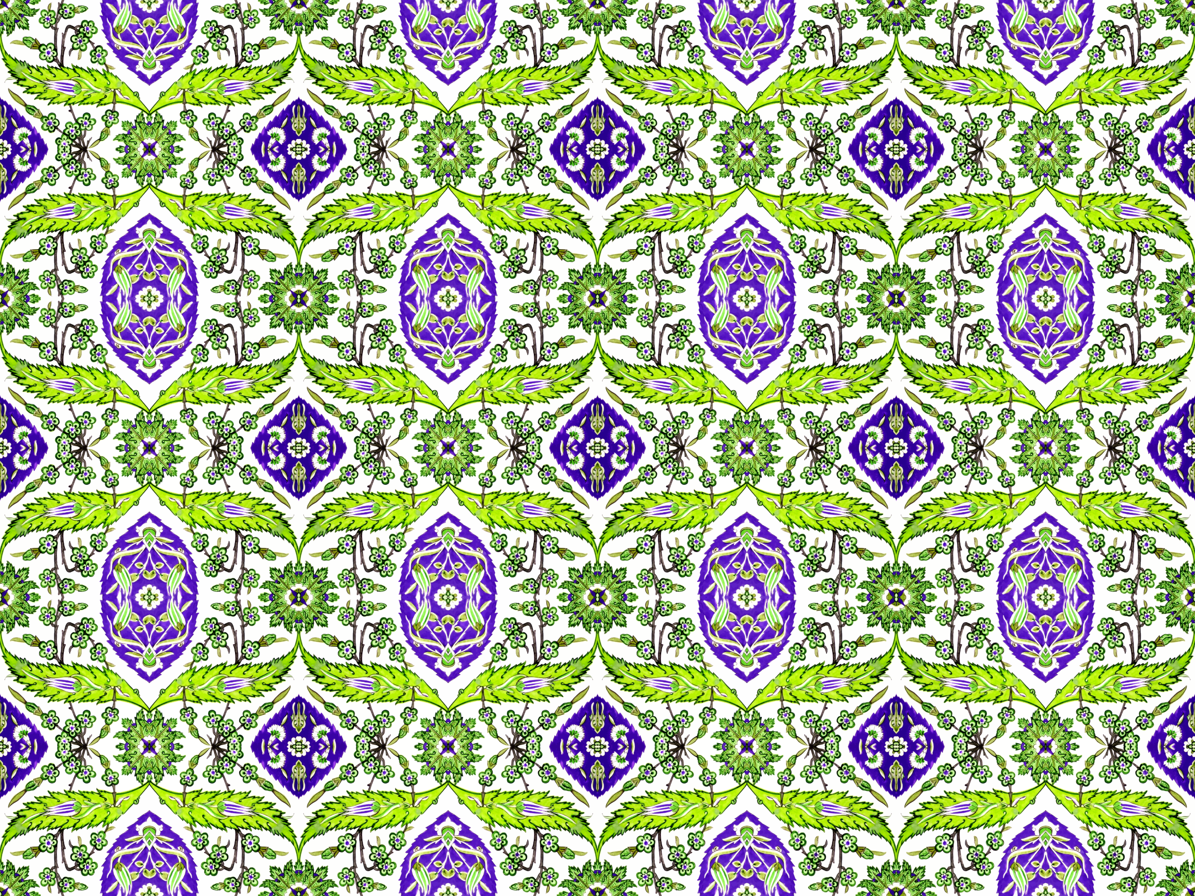 Floral pattern 6 (colour 3) by Firkin