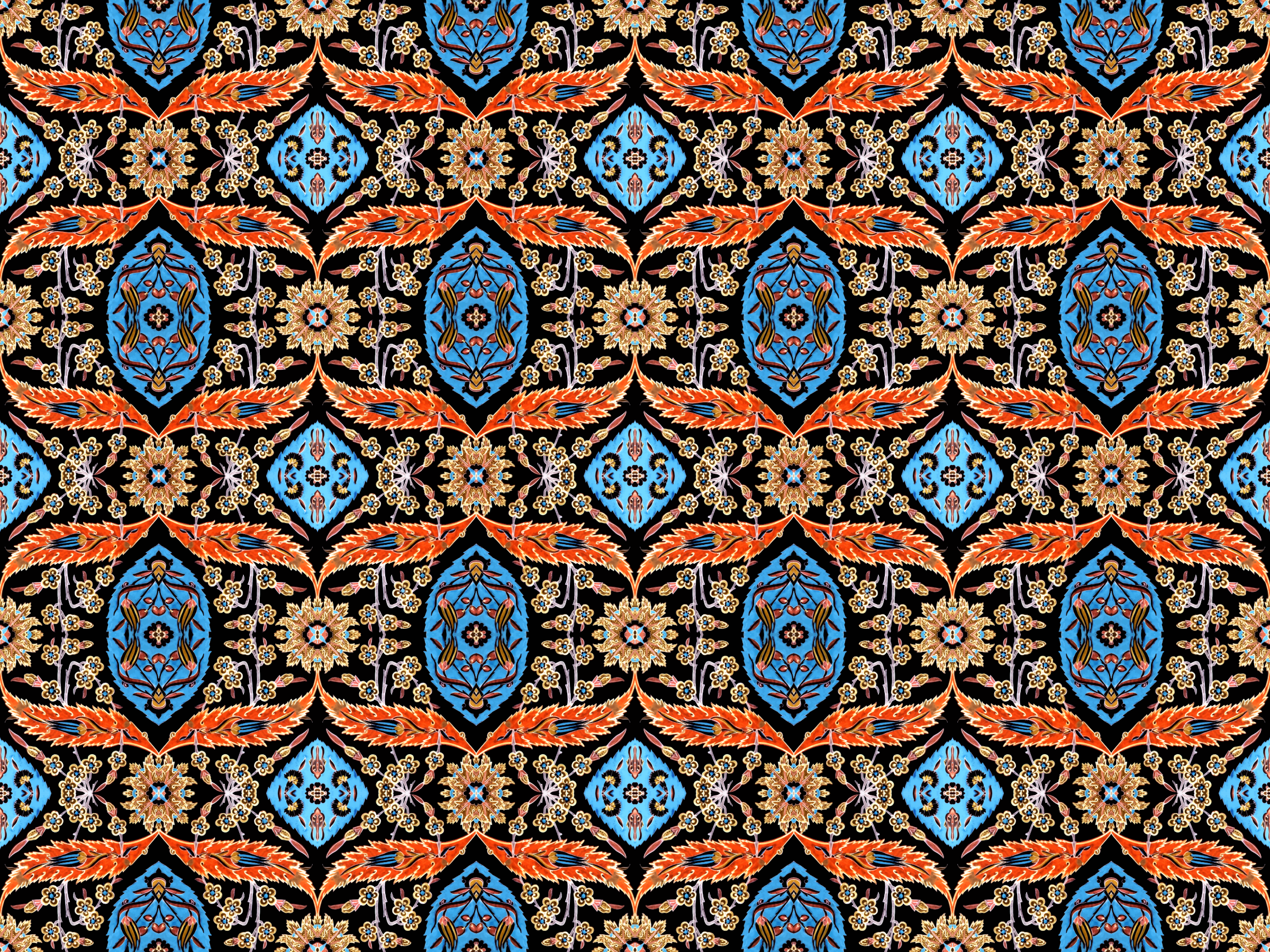 Floral pattern 6 (colour 4) by Firkin