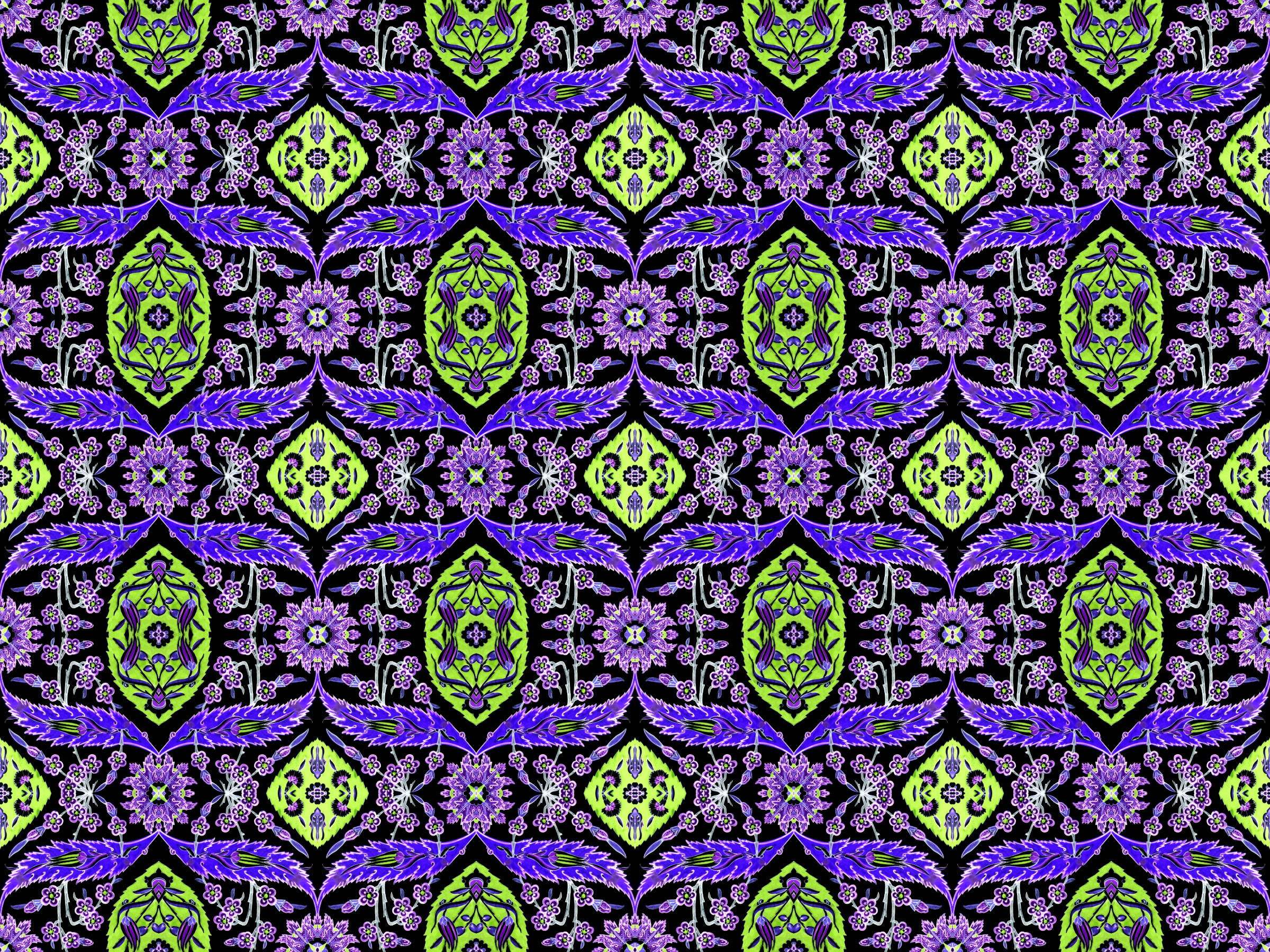 Floral pattern 6 (colour 6) by Firkin