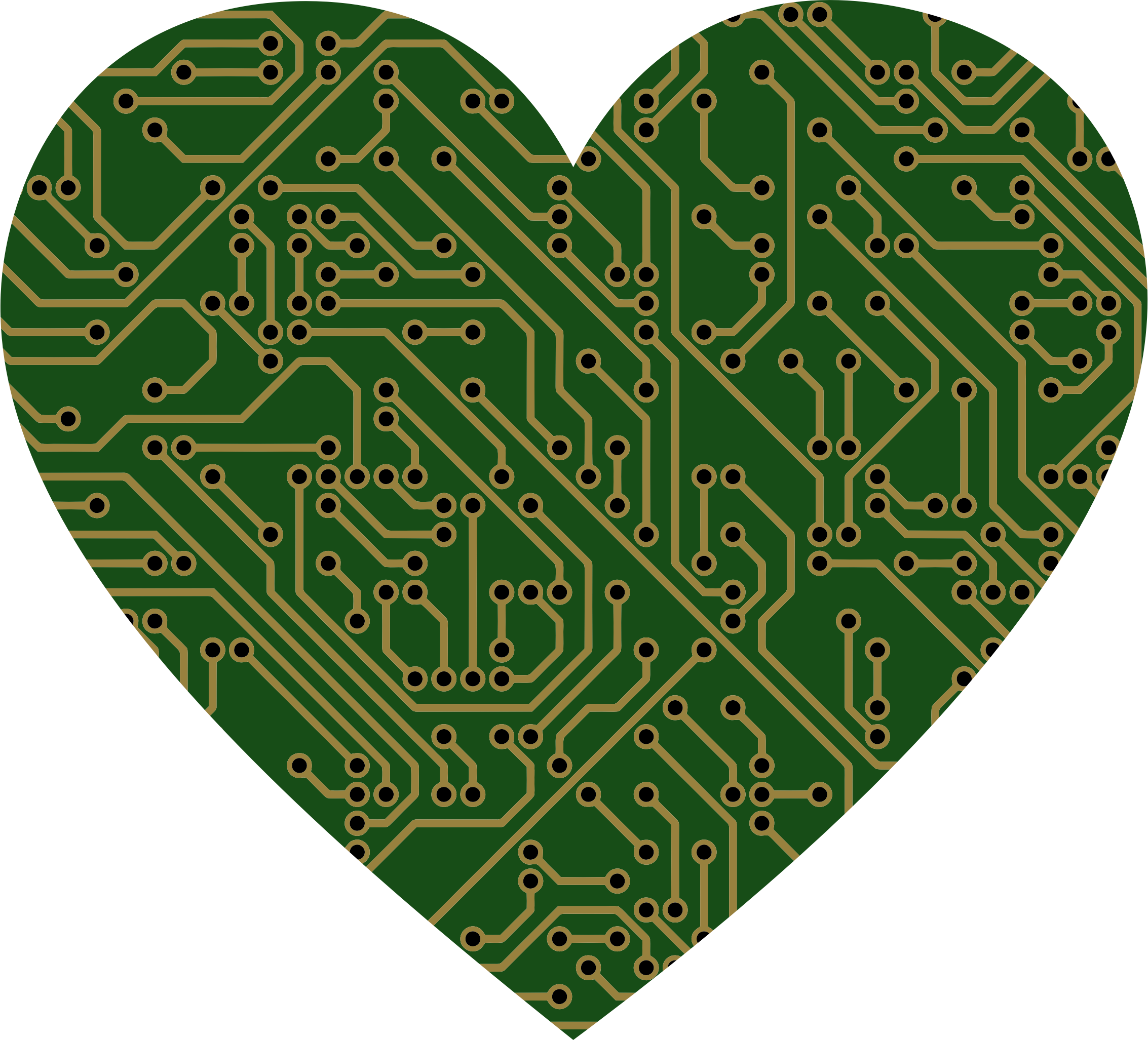 Printed Circuit Board Heart by GDJ