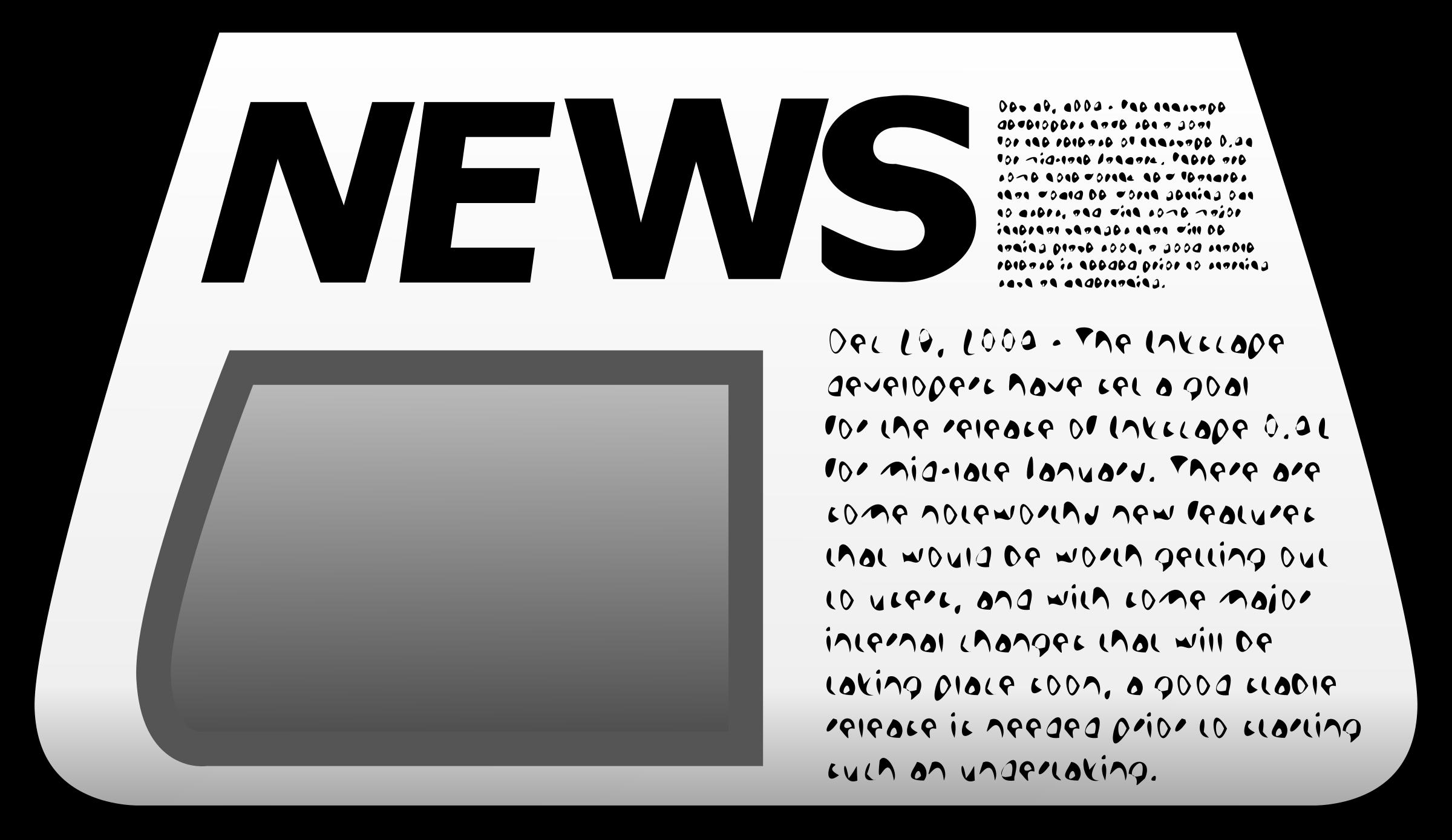 Clipart - Newspaper Icon