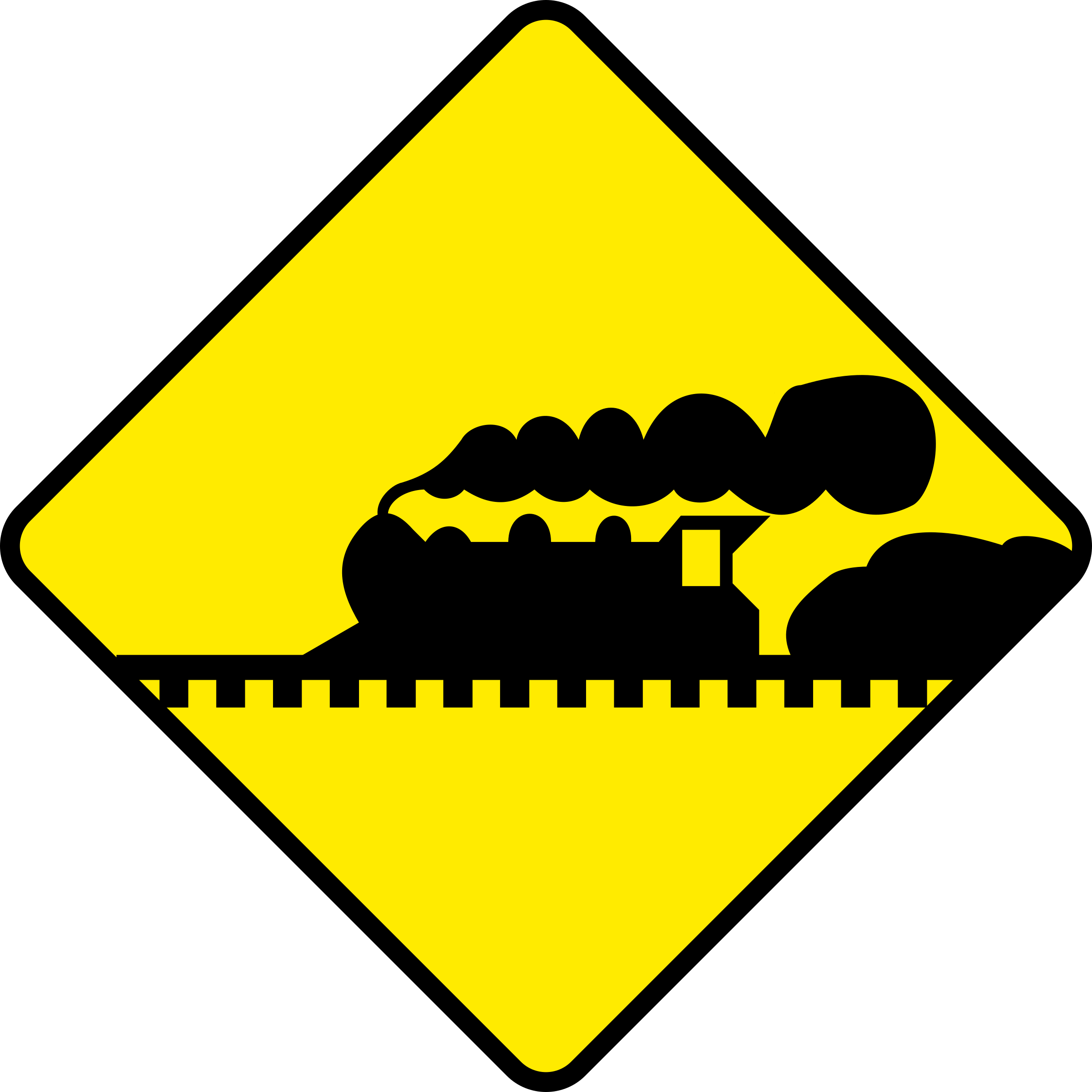 Train Road Sign by j4p4n