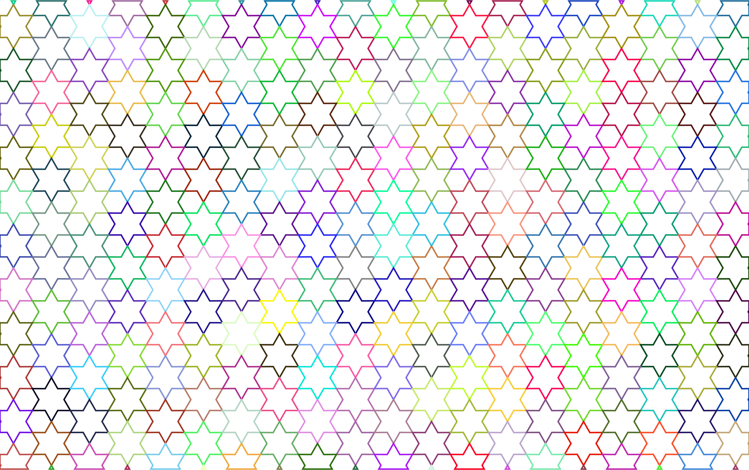 Abstract Stars Geometric Pattern Prismatic No Background by GDJ