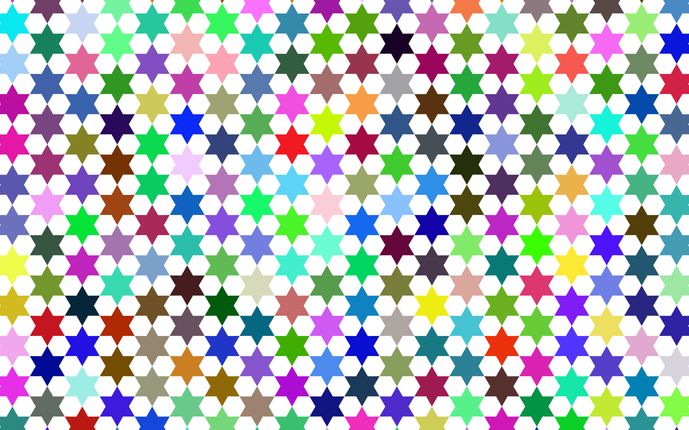 Abstract Stars Geometric Pattern 2 Prismatic by GDJ