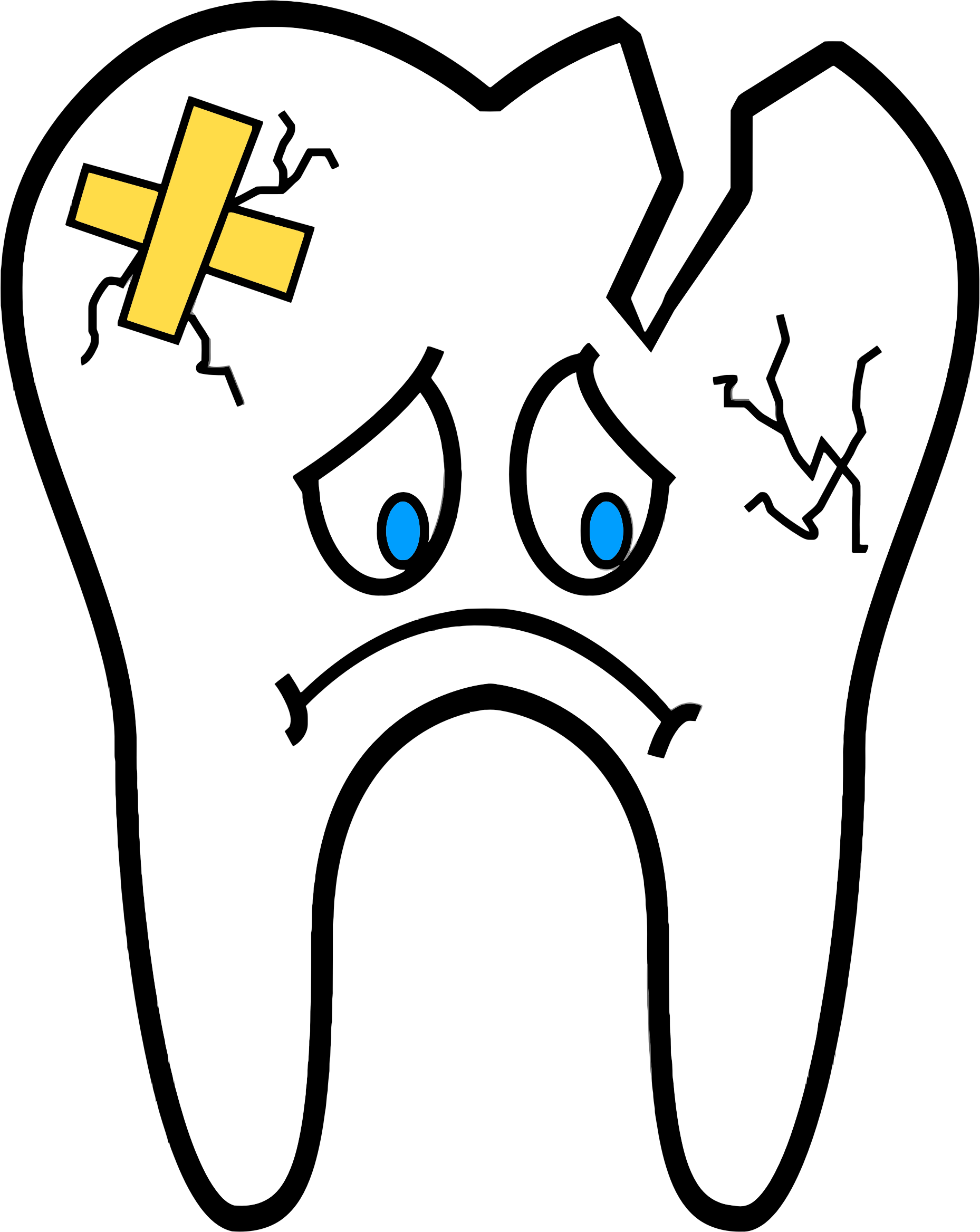 clipart unhealthy tooth rh openclipart org tooth fairy clipart clip art tooth