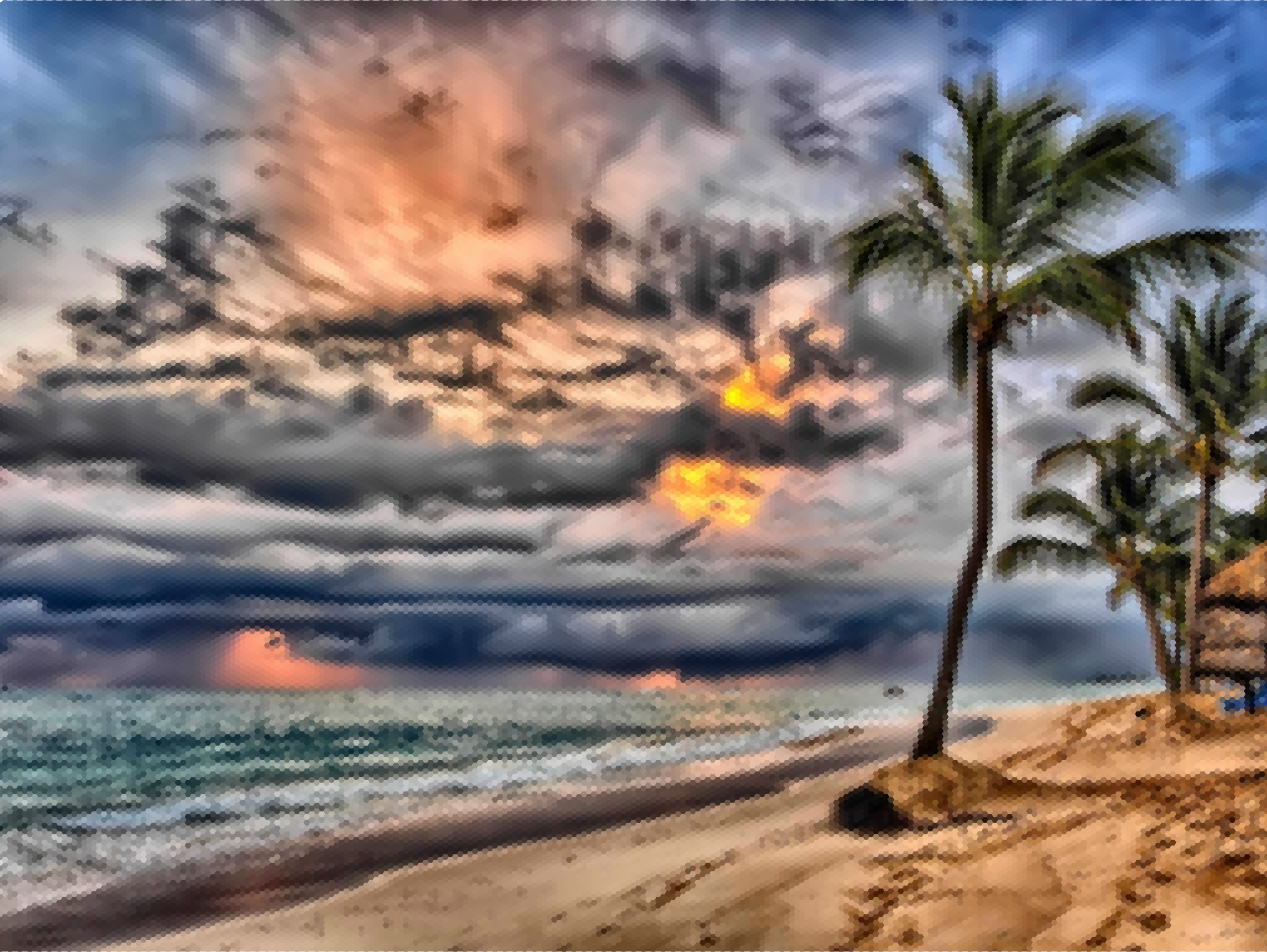 Sunrise Beach Hexagonal Mosaic by GDJ