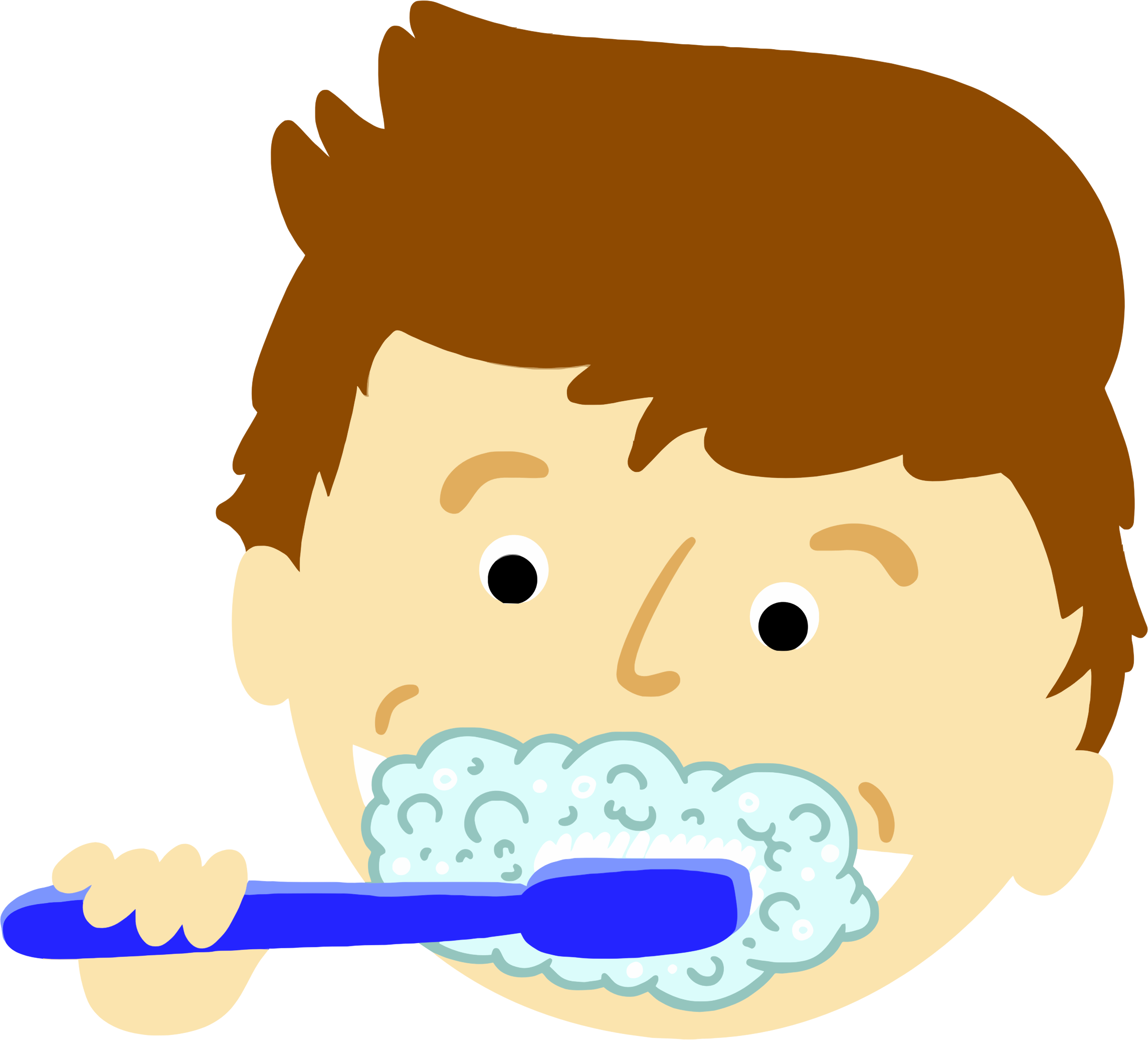 clipart boy brushing teeth rh openclipart org brush my teeth clipart brush teeth clipart black and white