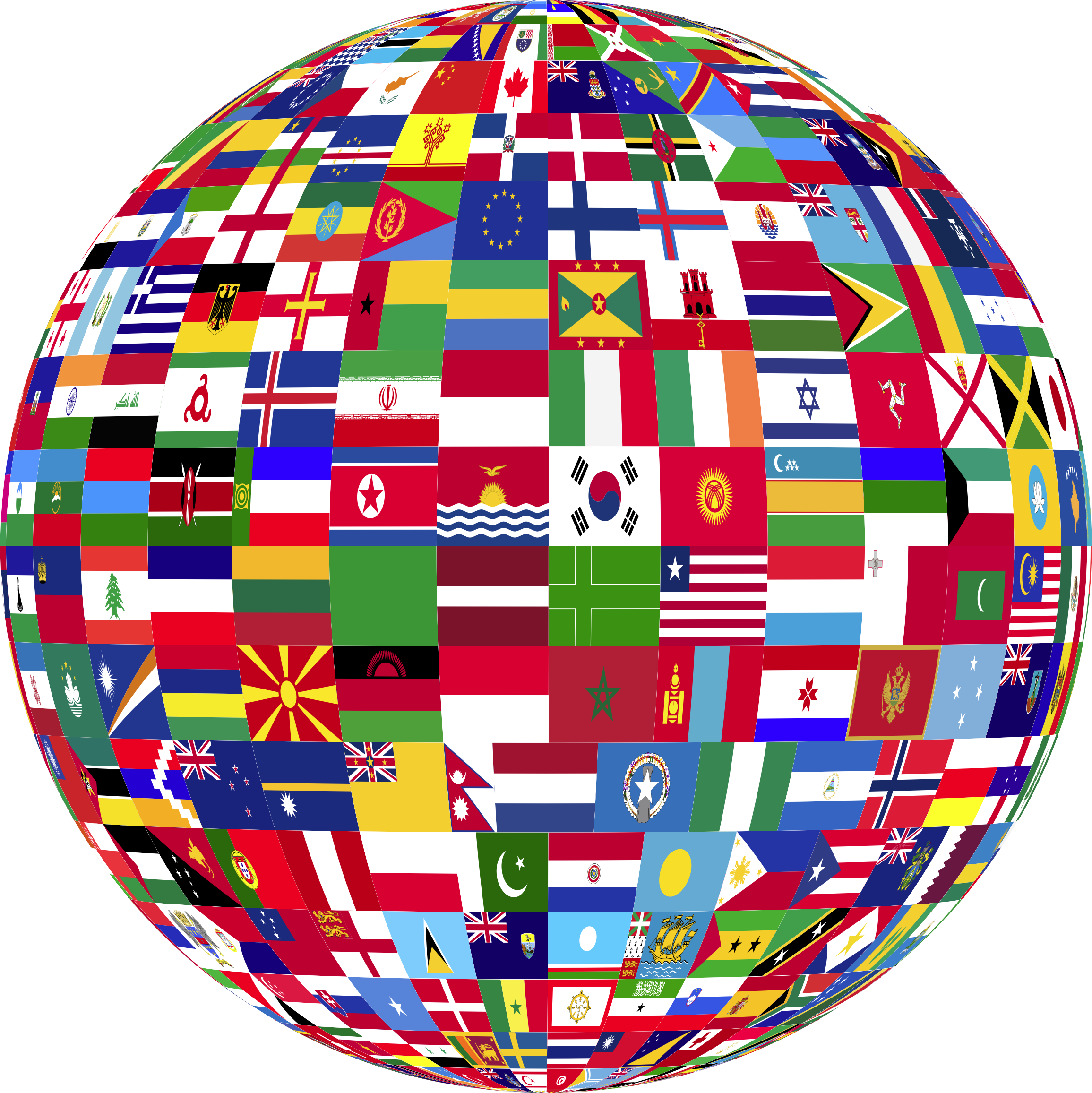 World Flags Globe 3 by GDJ