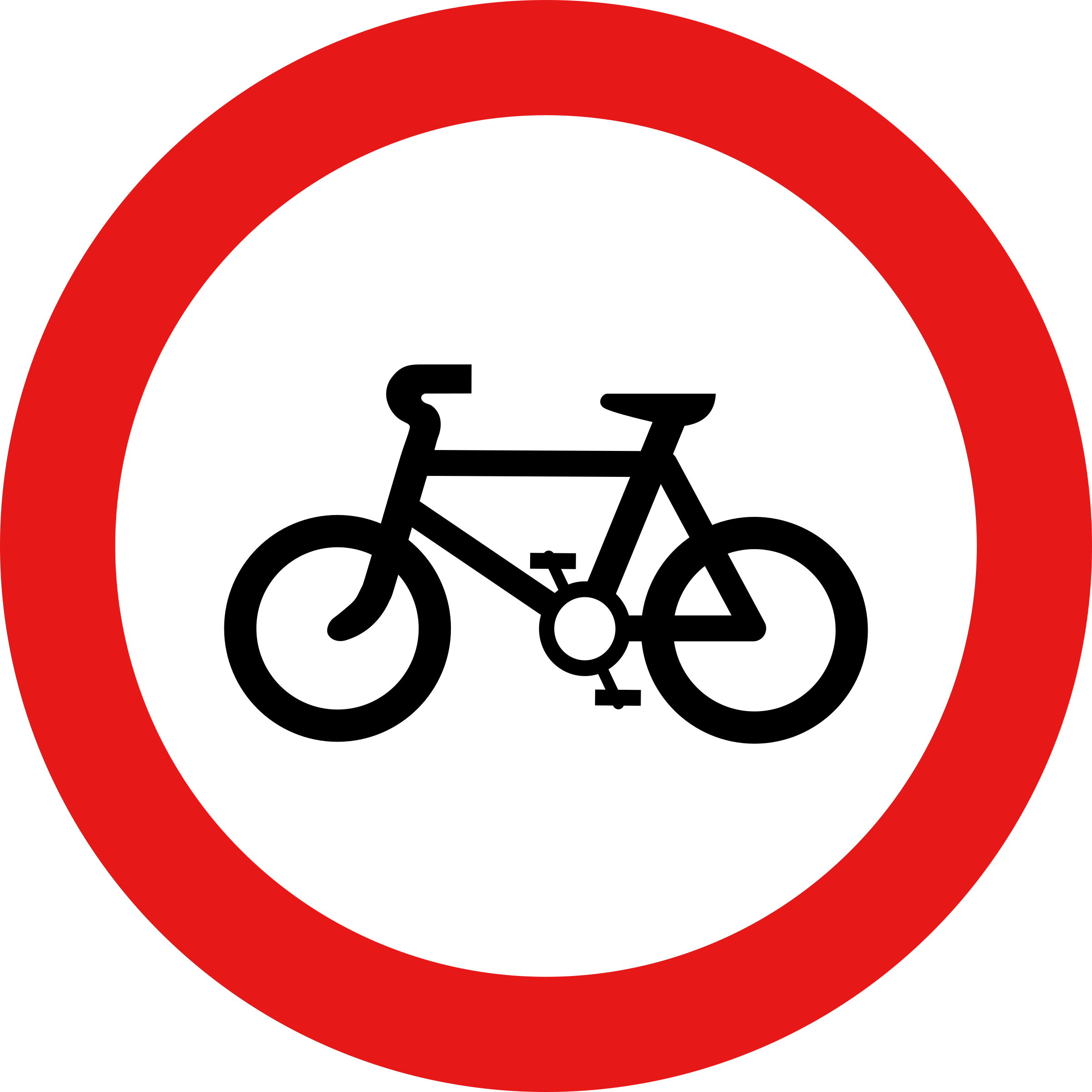 Roadsign no cycles by Simarilius