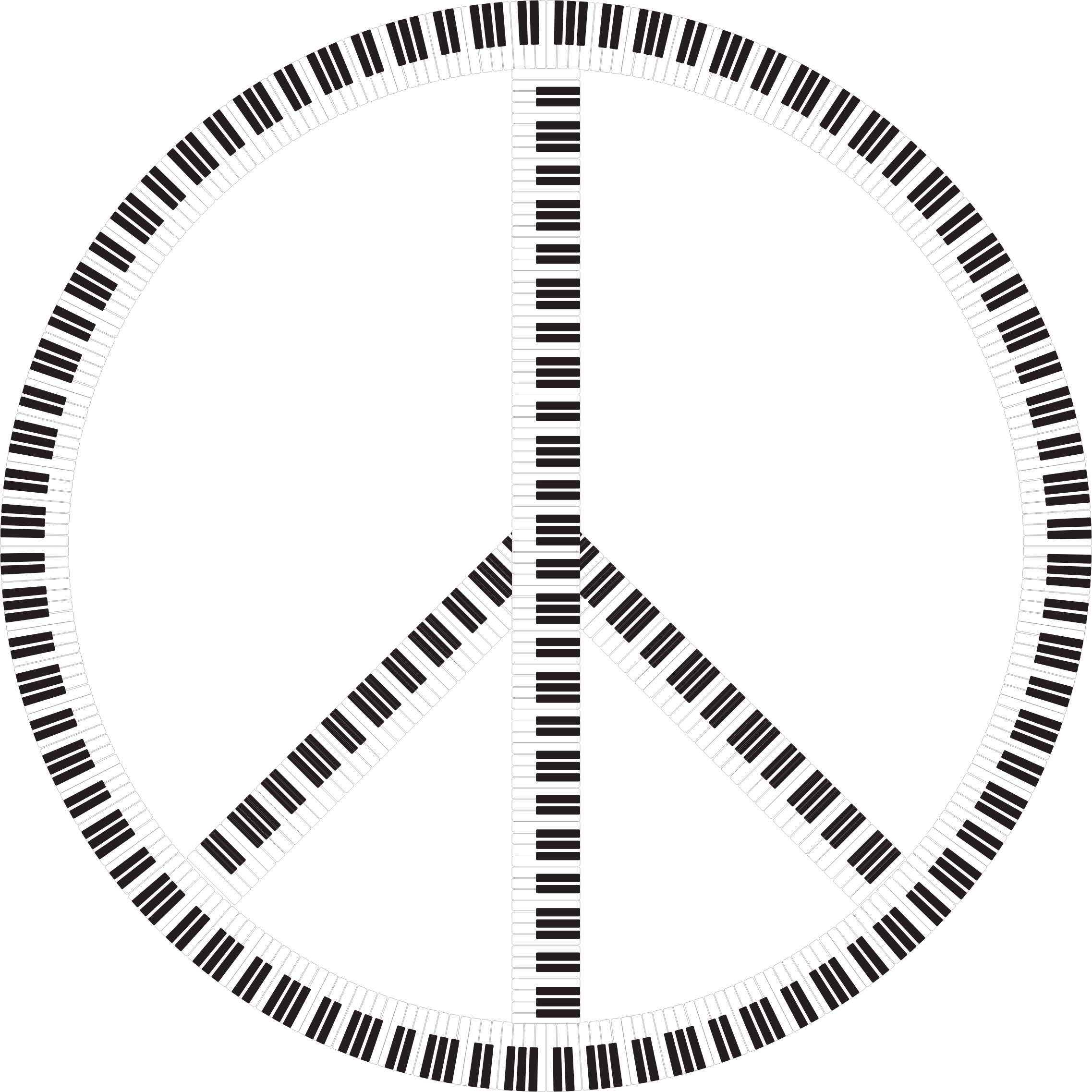 Peace Sign Piano Keys by GDJ