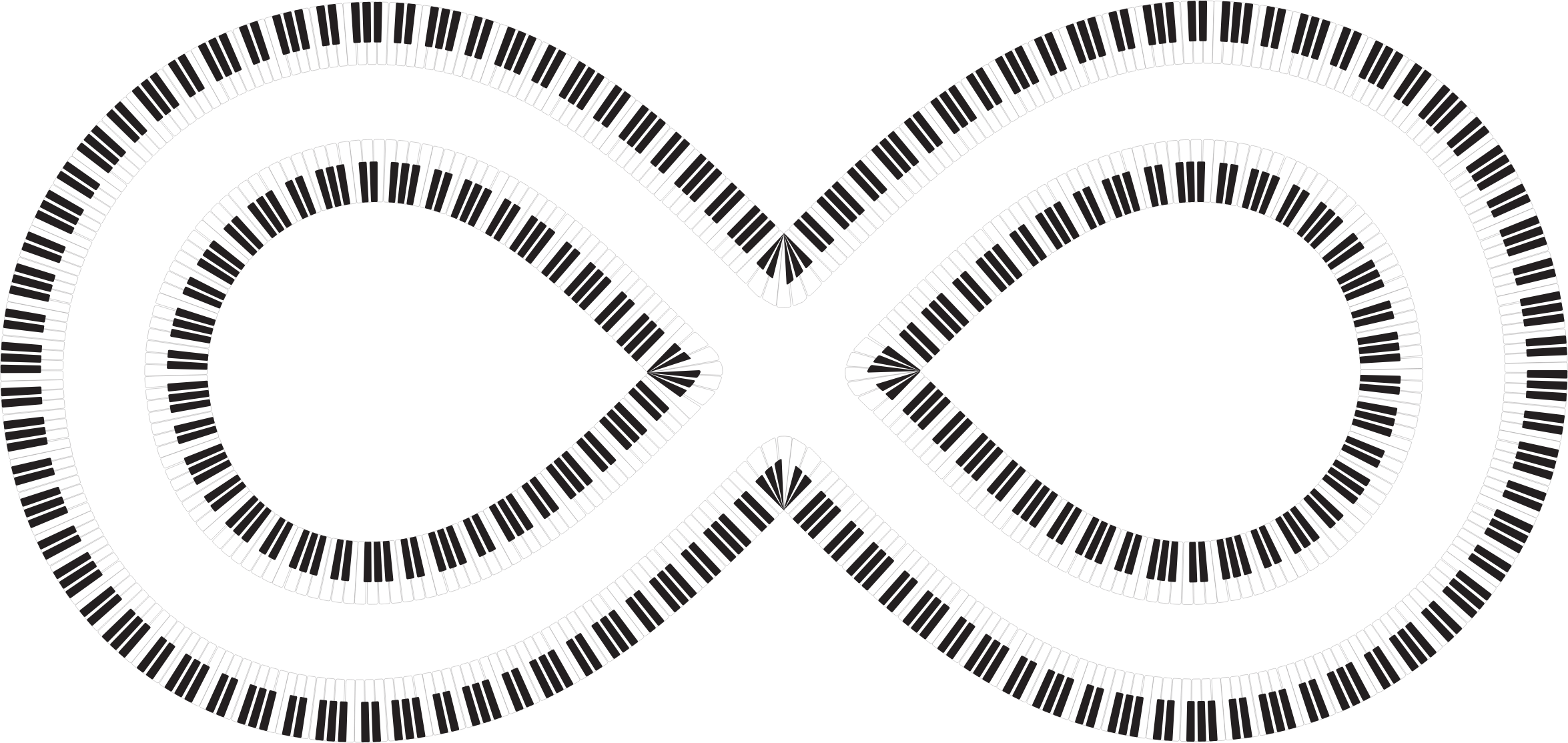 Infinite Piano Keys by GDJ