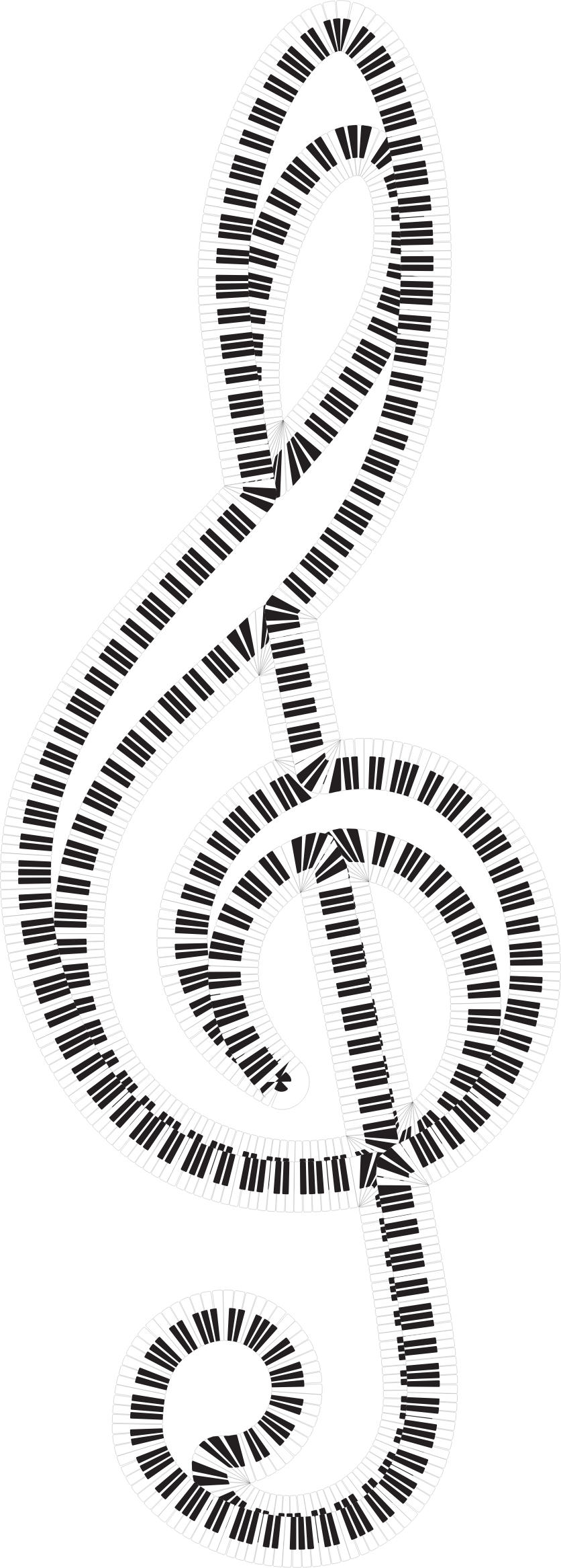 Clef Piano Keys by GDJ