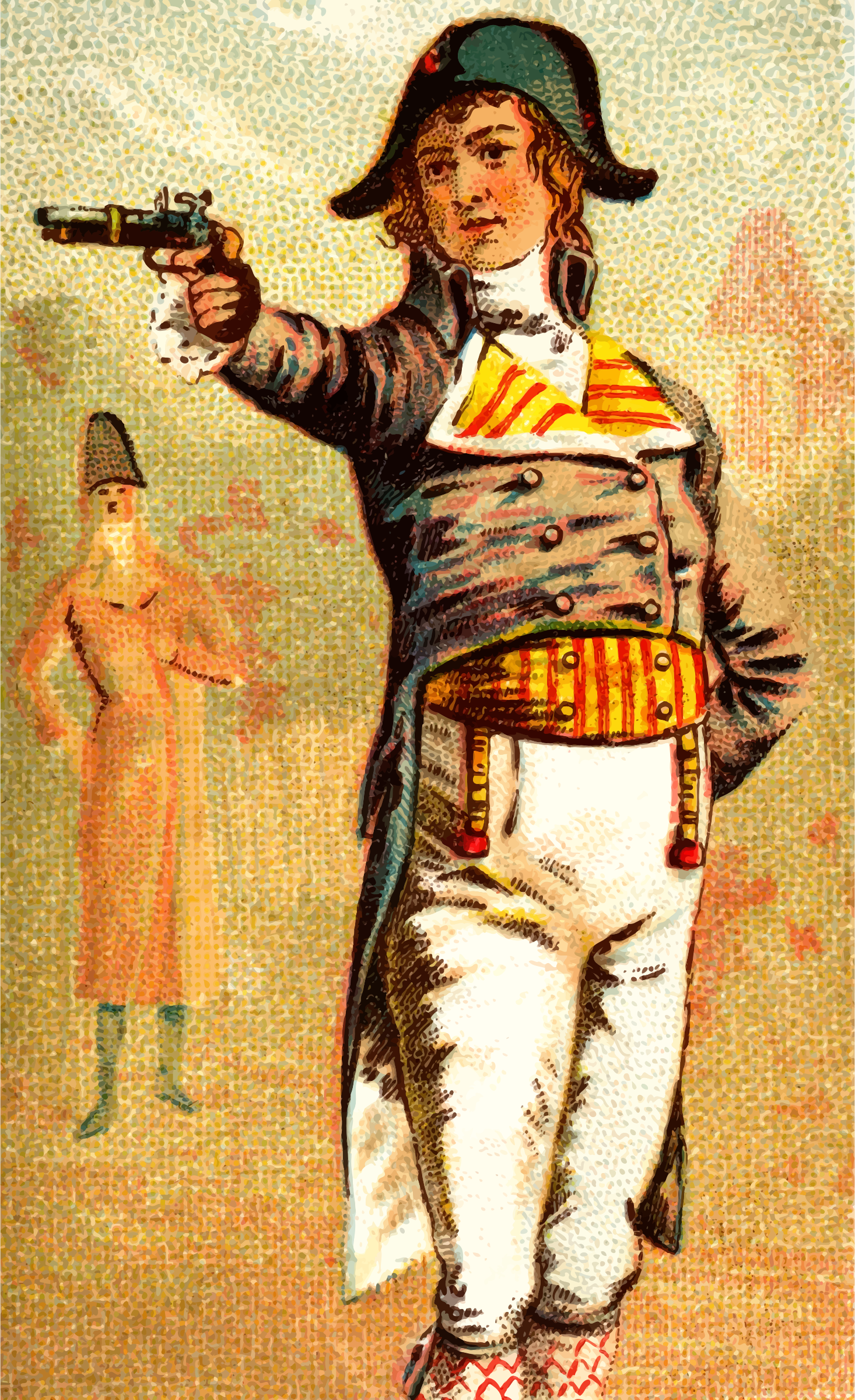 Cigarette card - Duelling Pistol by Firkin