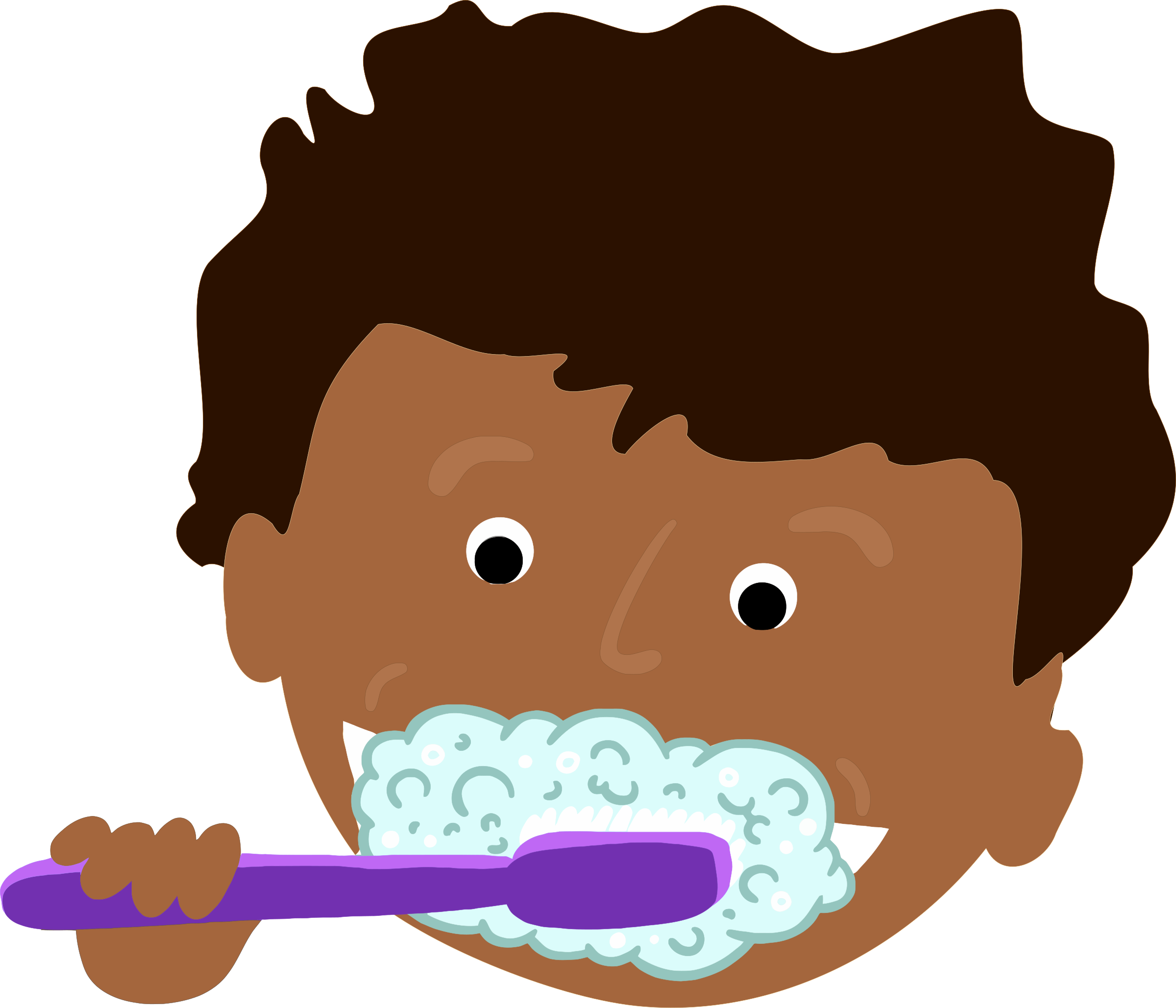 clipart african kid brushing teeth rh openclipart org brushing teeth clipart black and white brushing teeth clipart black and white