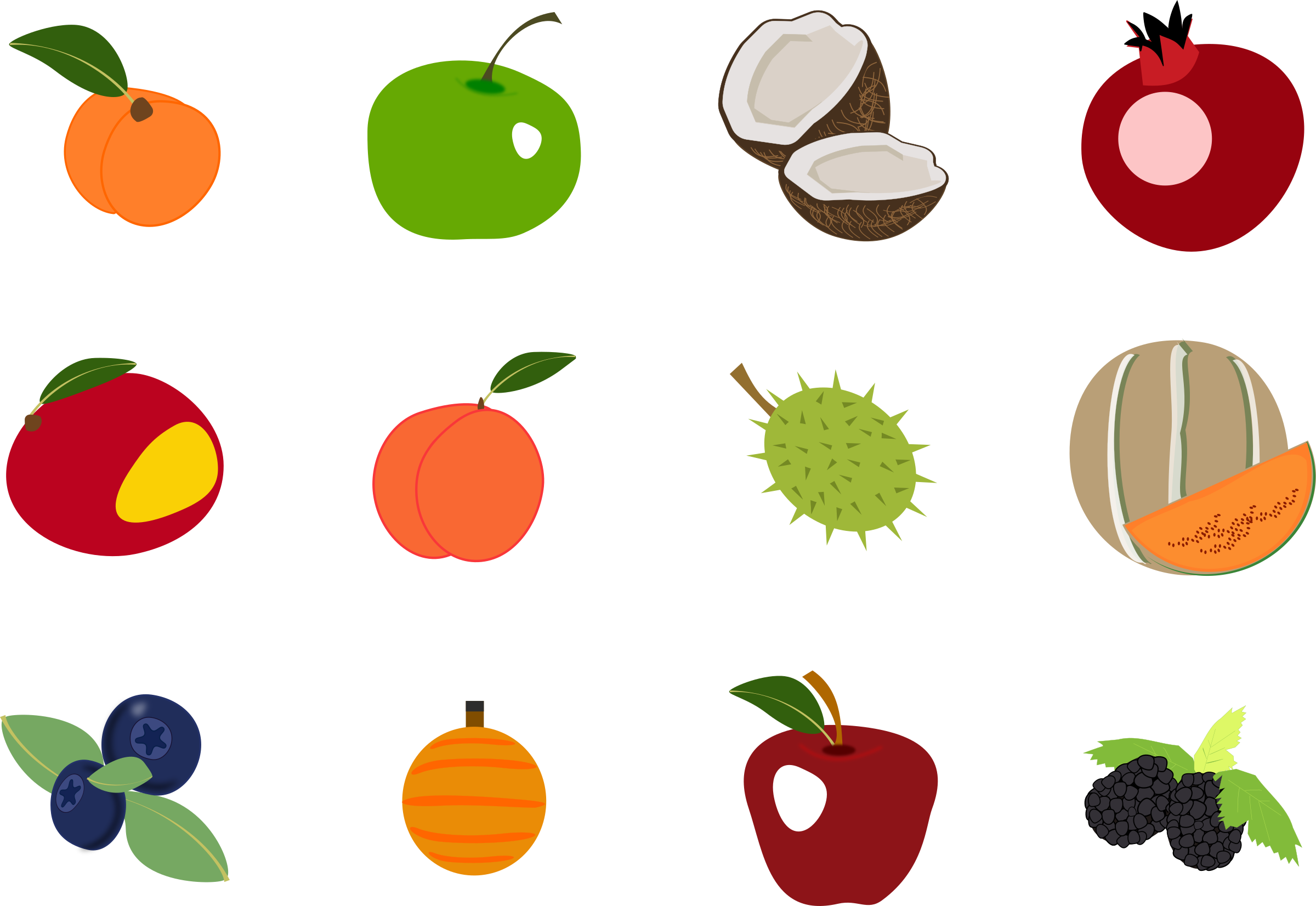 Fruit icons pack 2 by inkscapeforum.it