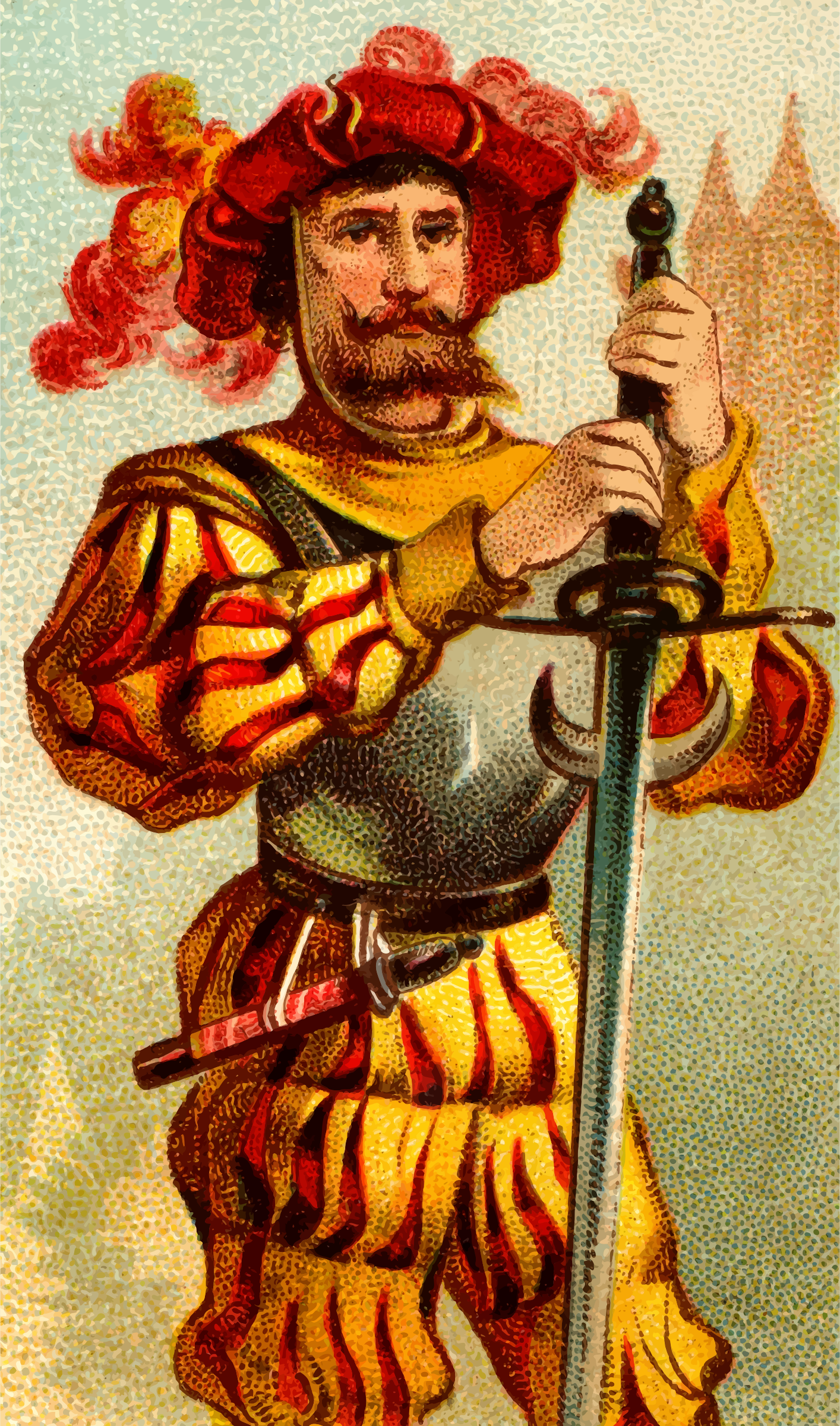 Cigarette card - Two Handed Sword by Firkin
