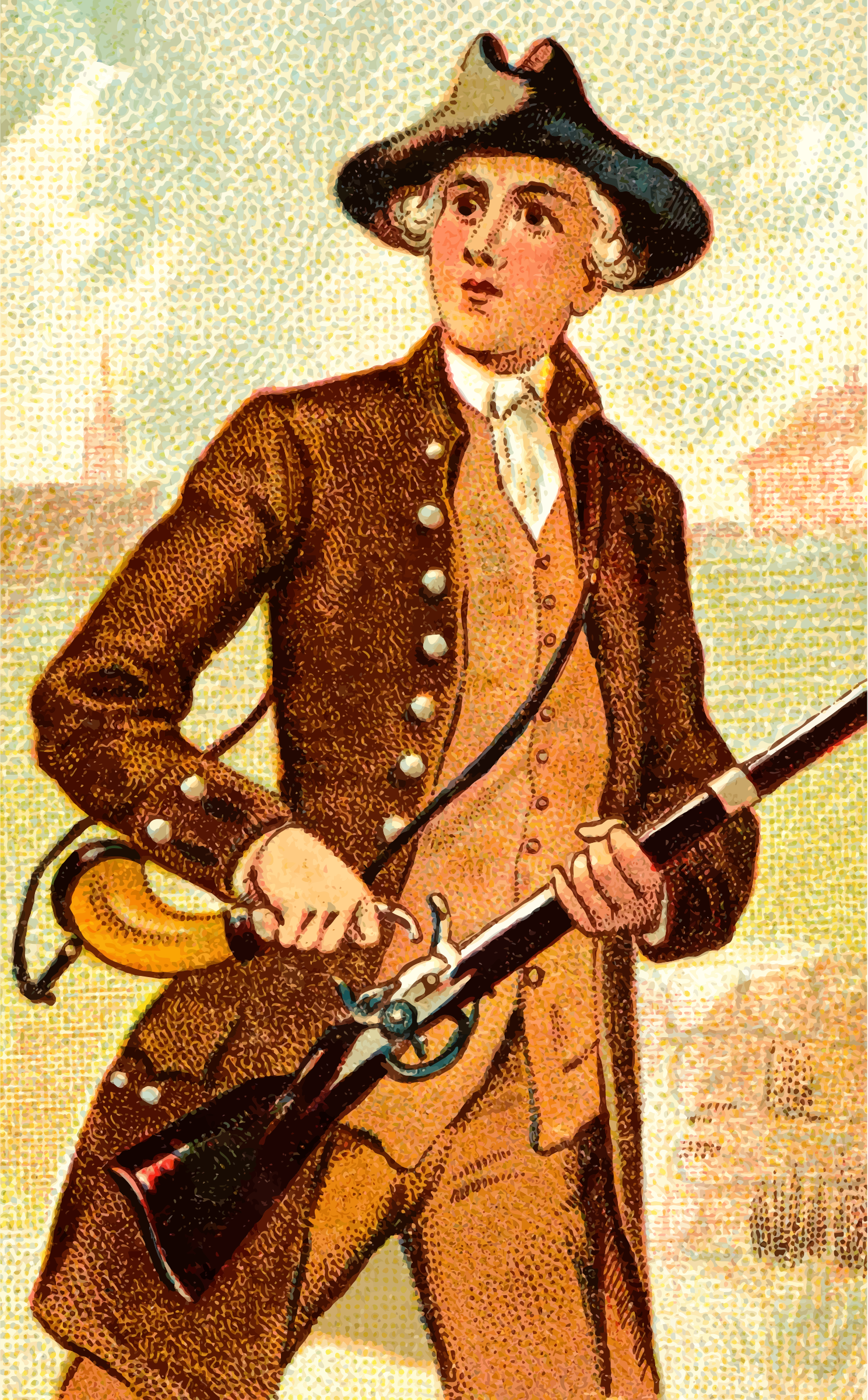 Cigarette card - Flint Lock Musket by Firkin