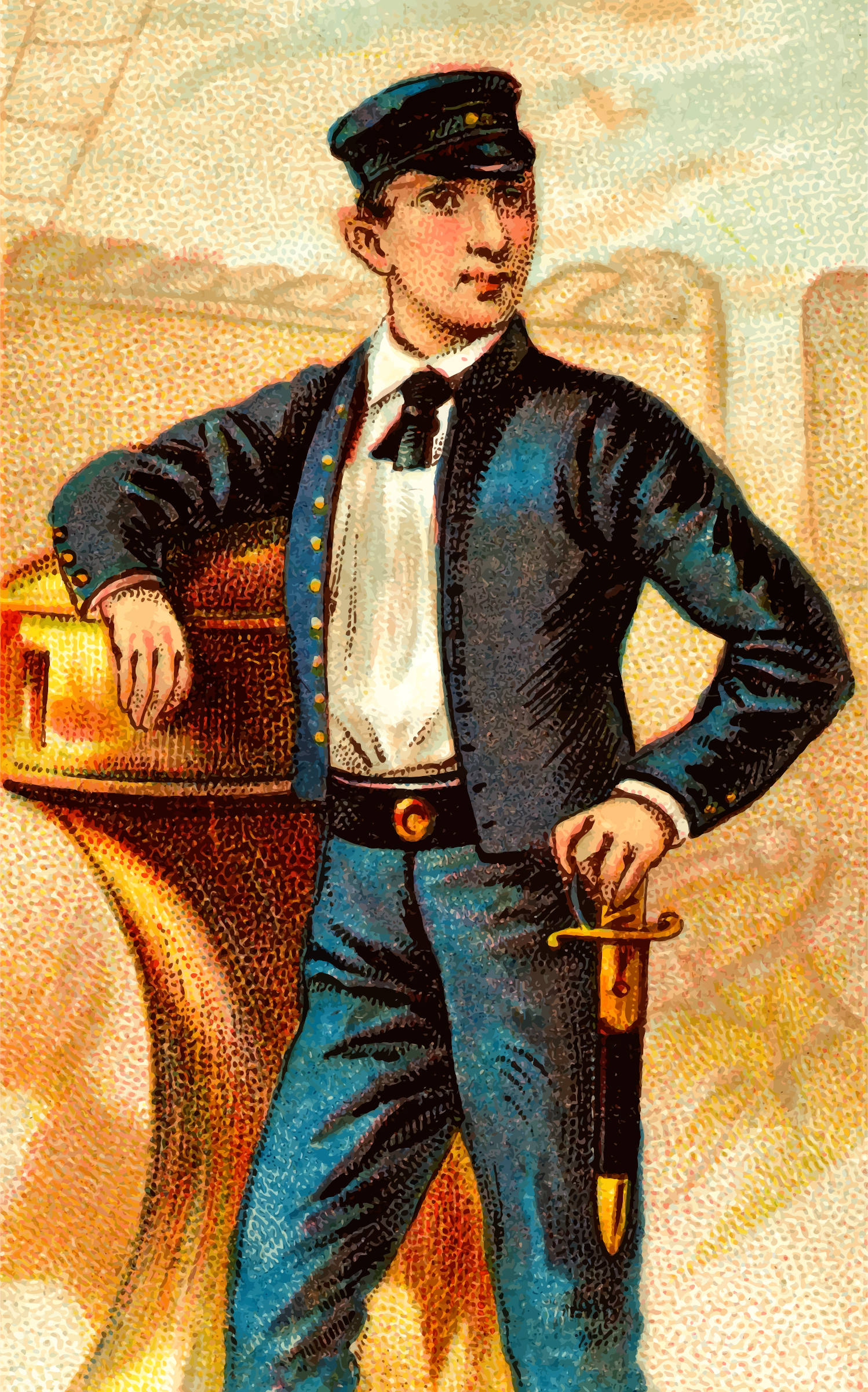 Cigarette card - Midshipman's Dirk by Firkin