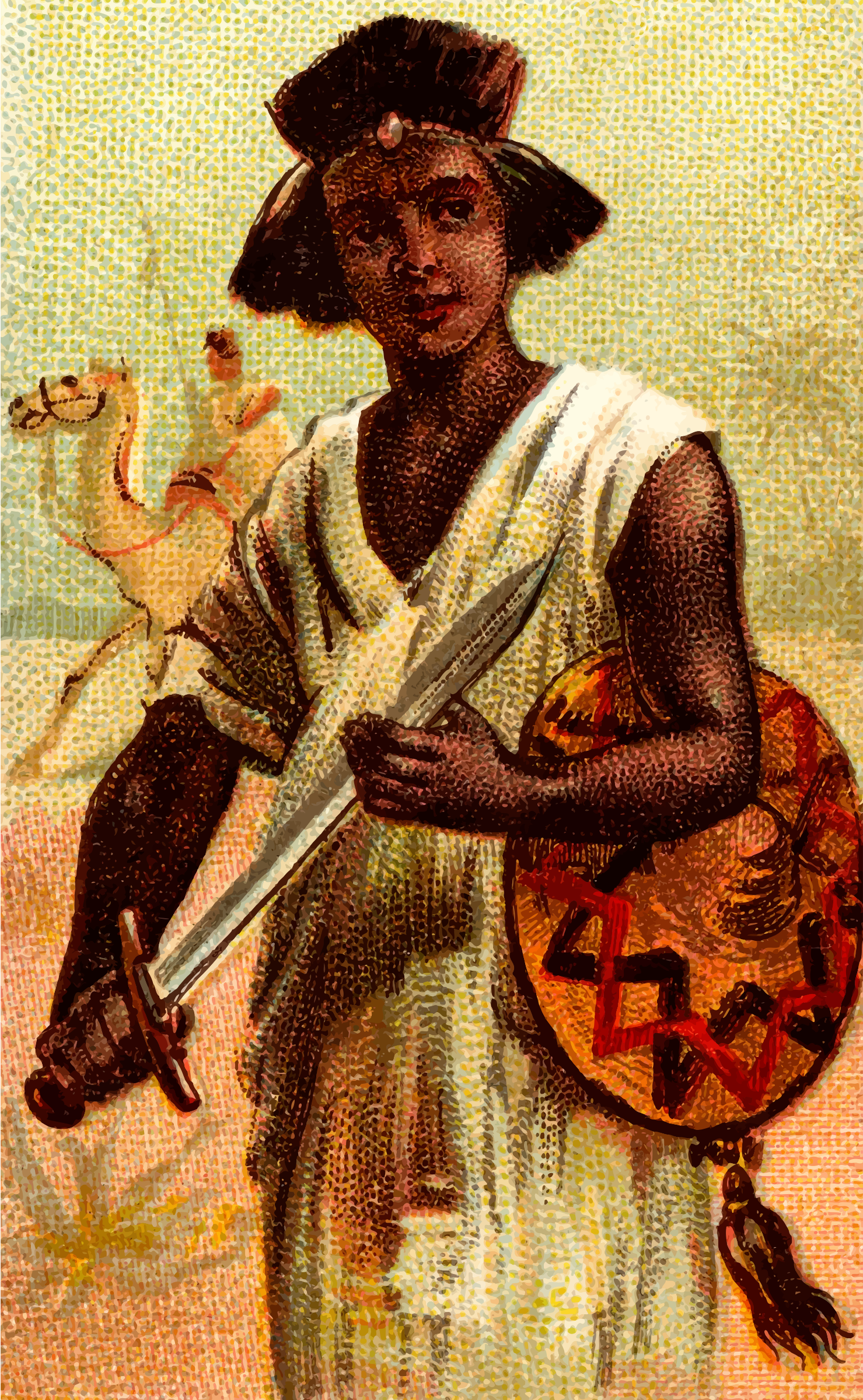Cigarette card - Nubian Sword by Firkin
