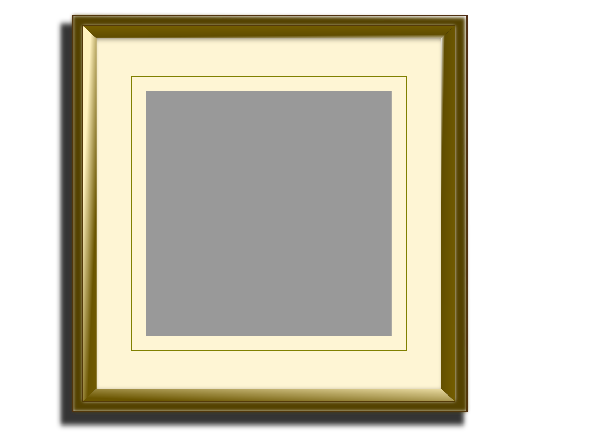 Golden picture frame for square images by ConnyOnny