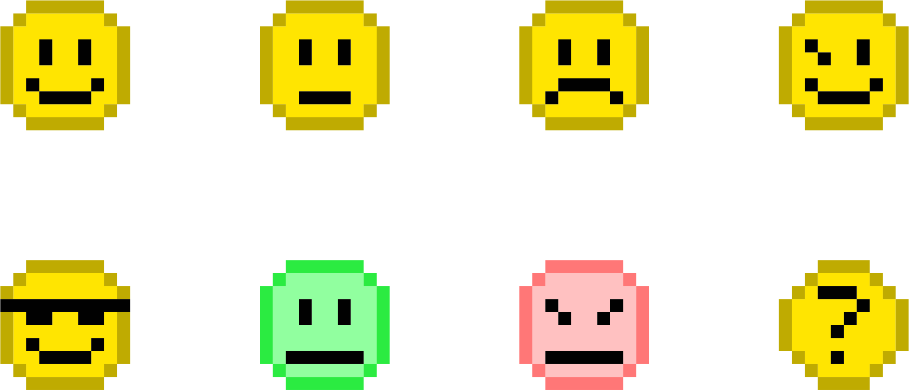 Pixel Emoticons (10px) by CLXVI