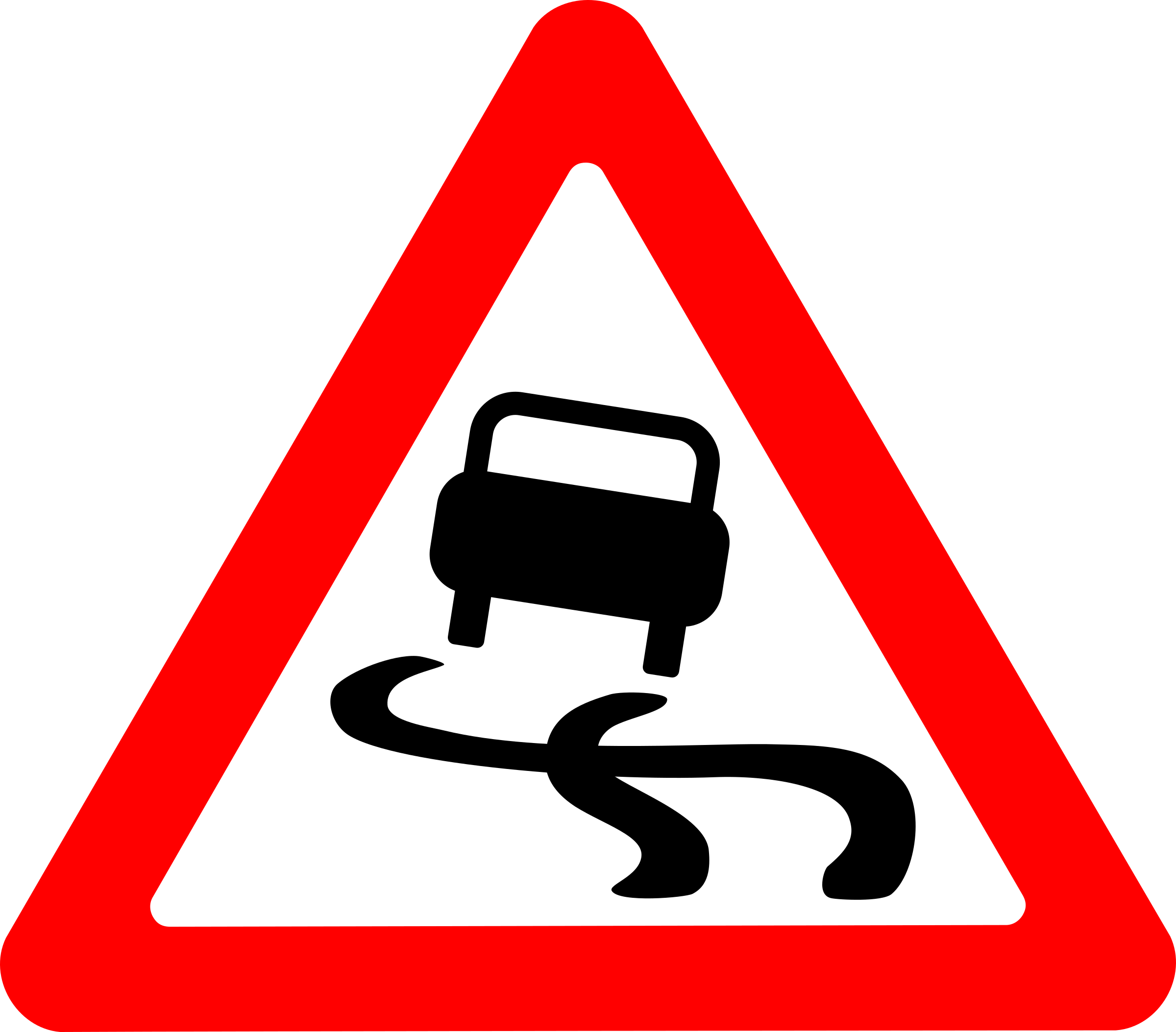 Roadsign slippery by Simarilius