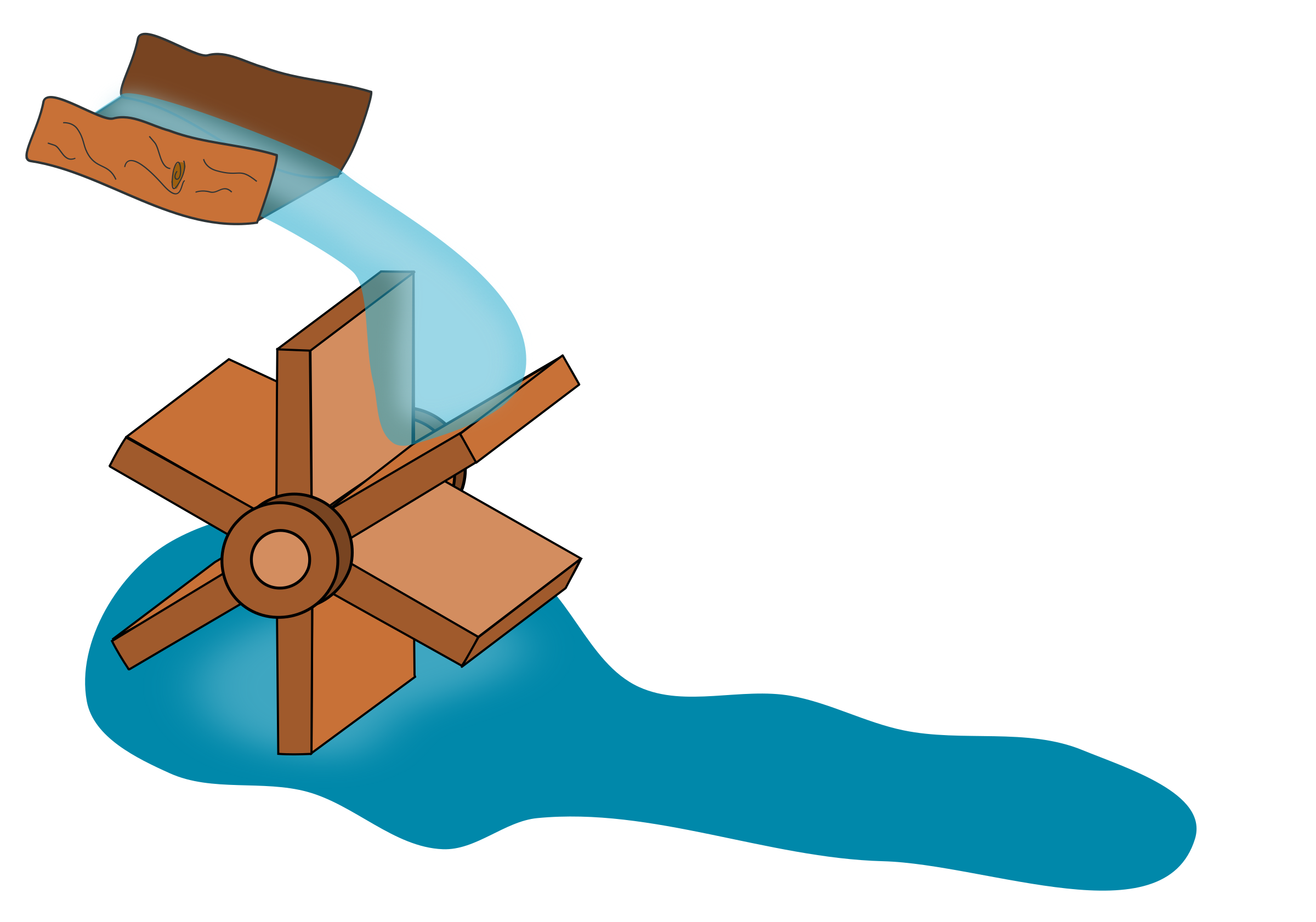 water wheel by Juhele