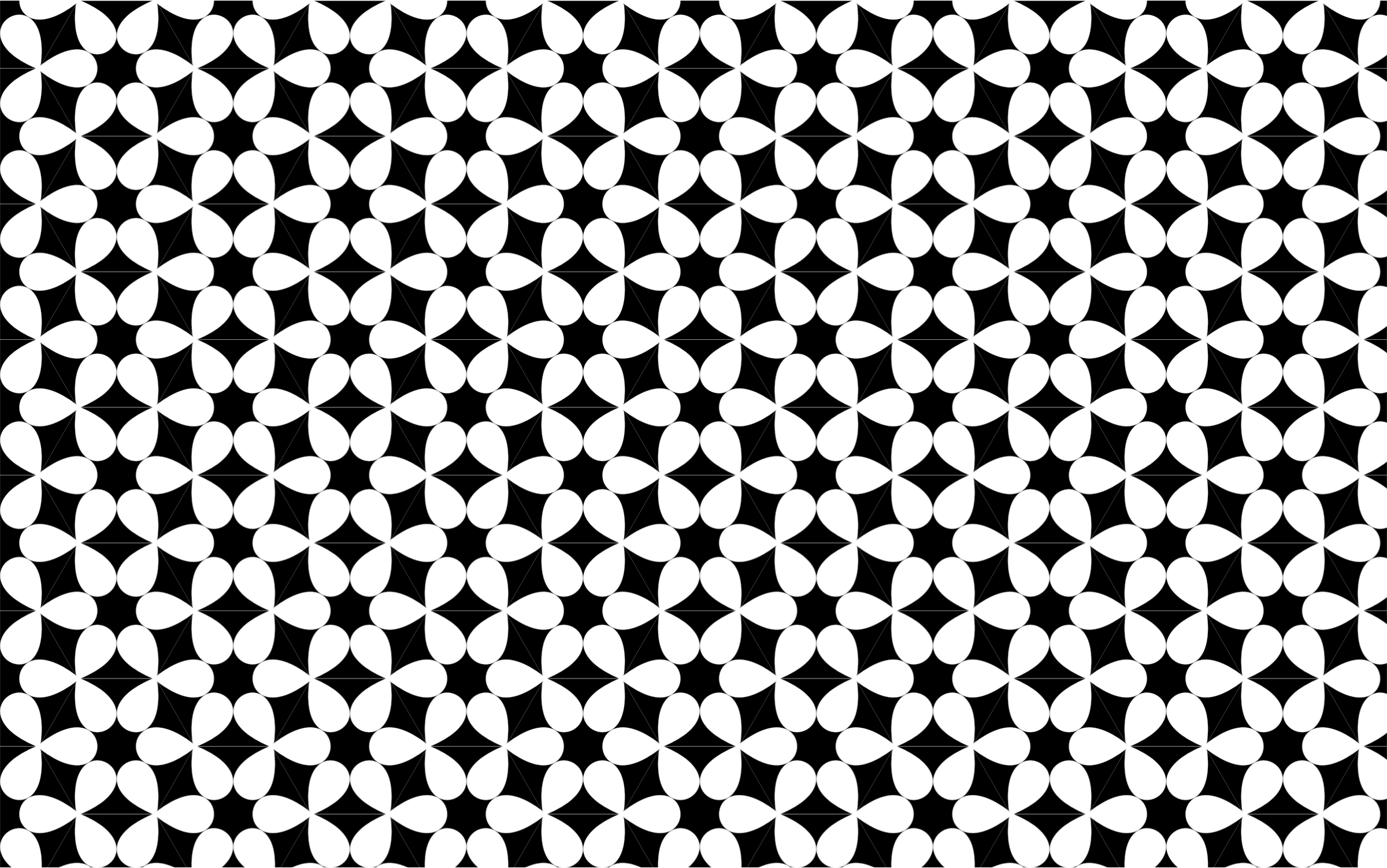 Seamless Monochrome Floral Pattern 2 by GDJ