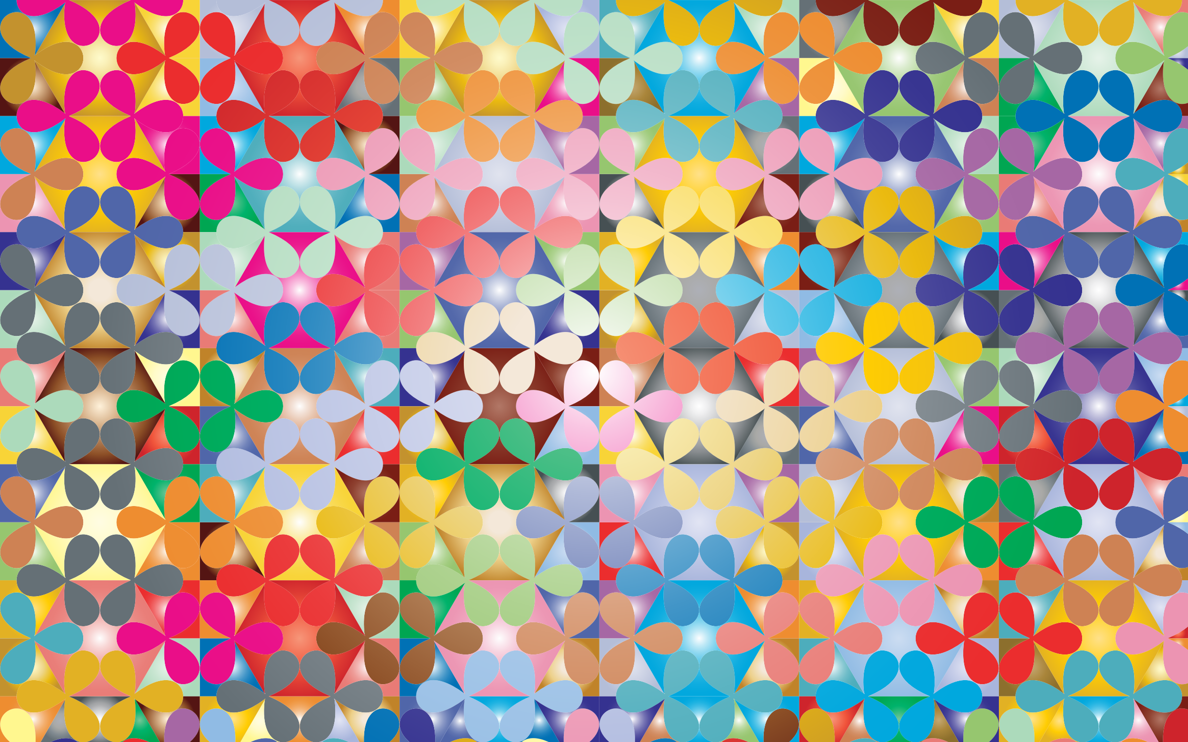 Prismatic Floral Pattern 2 Variation 2 by GDJ