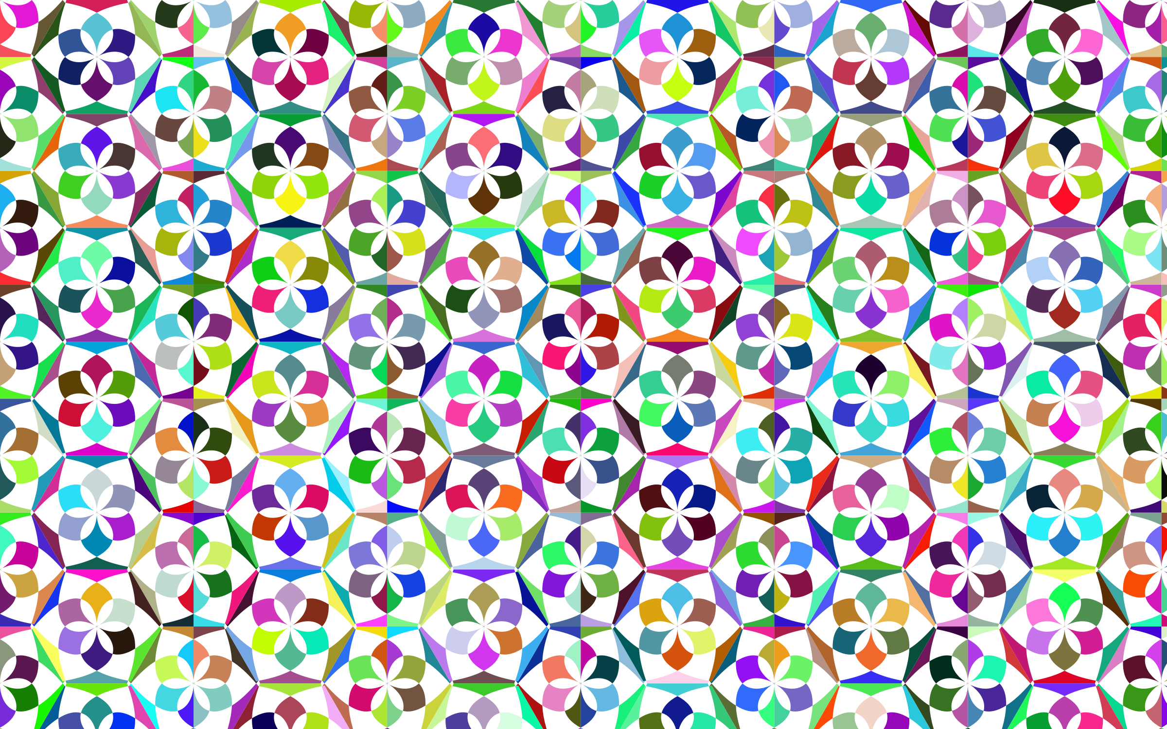Prismatic Floral Pattern 3 by GDJ