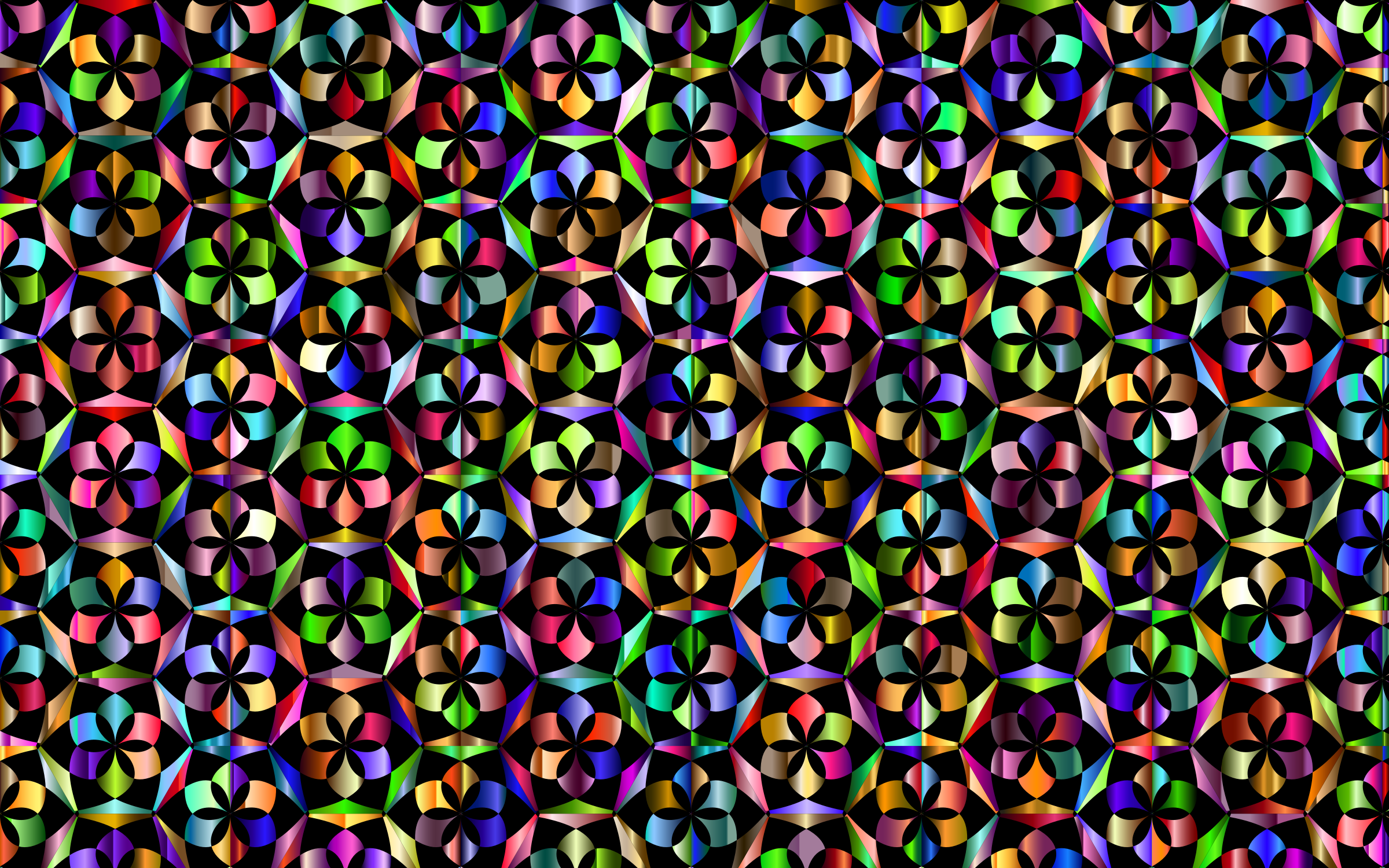 Prismatic Floral Pattern 3 Variation 3 by GDJ