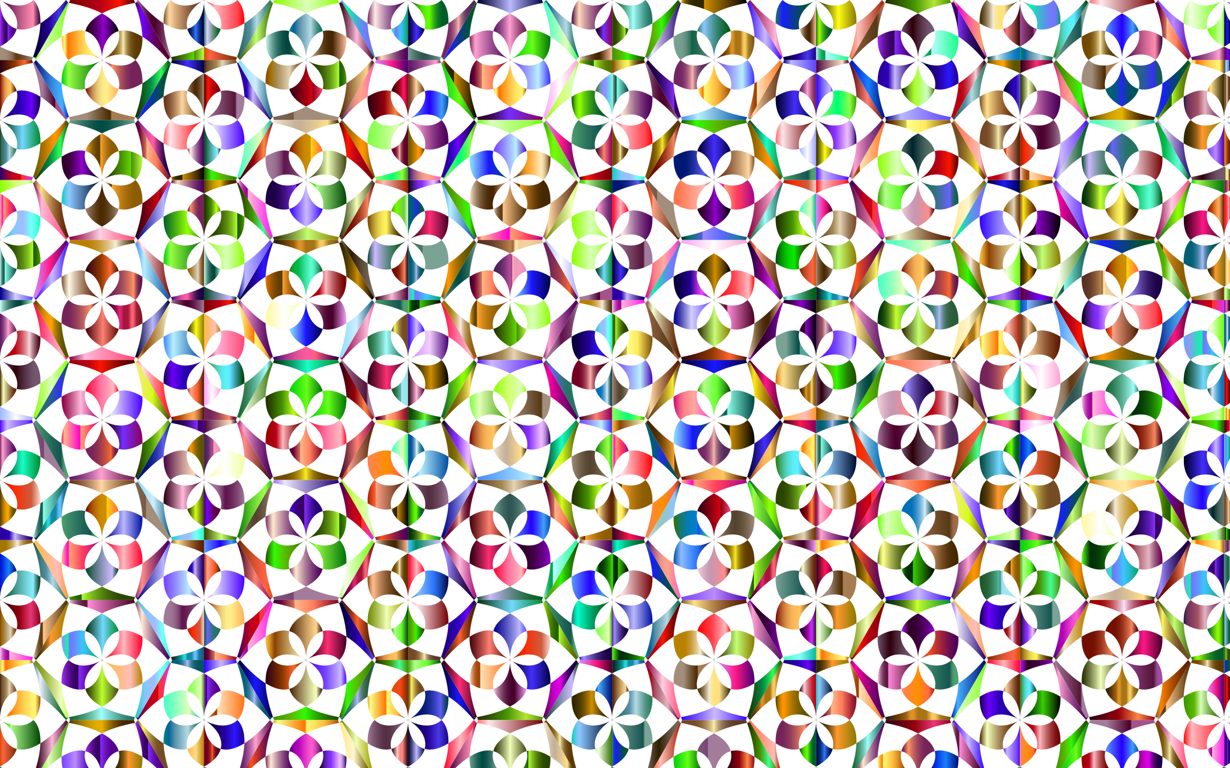 Prismatic Floral Pattern 3 Variation 3 No Background by GDJ