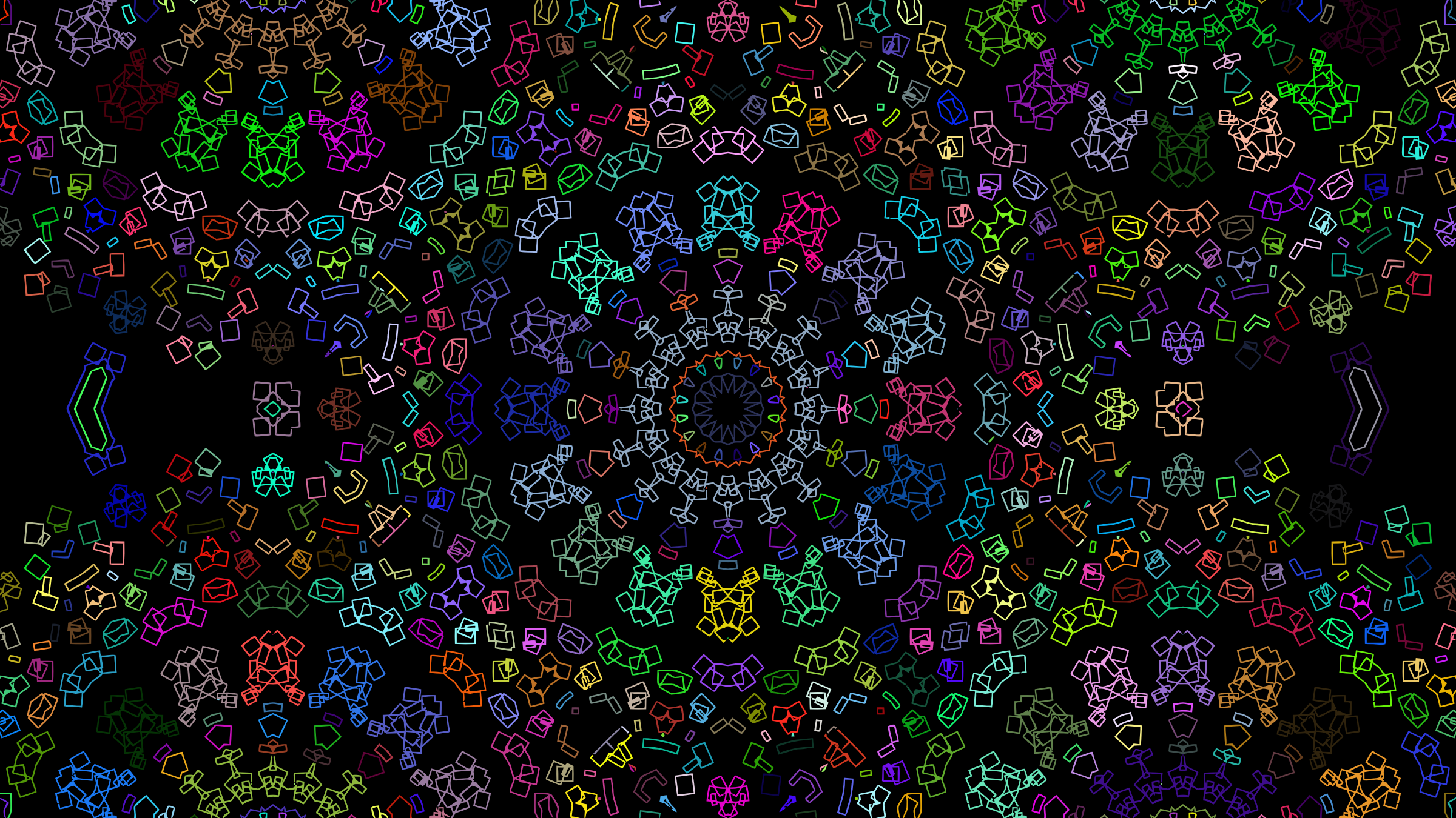 Kaleidoscope Prismatic Abstract by GDJ