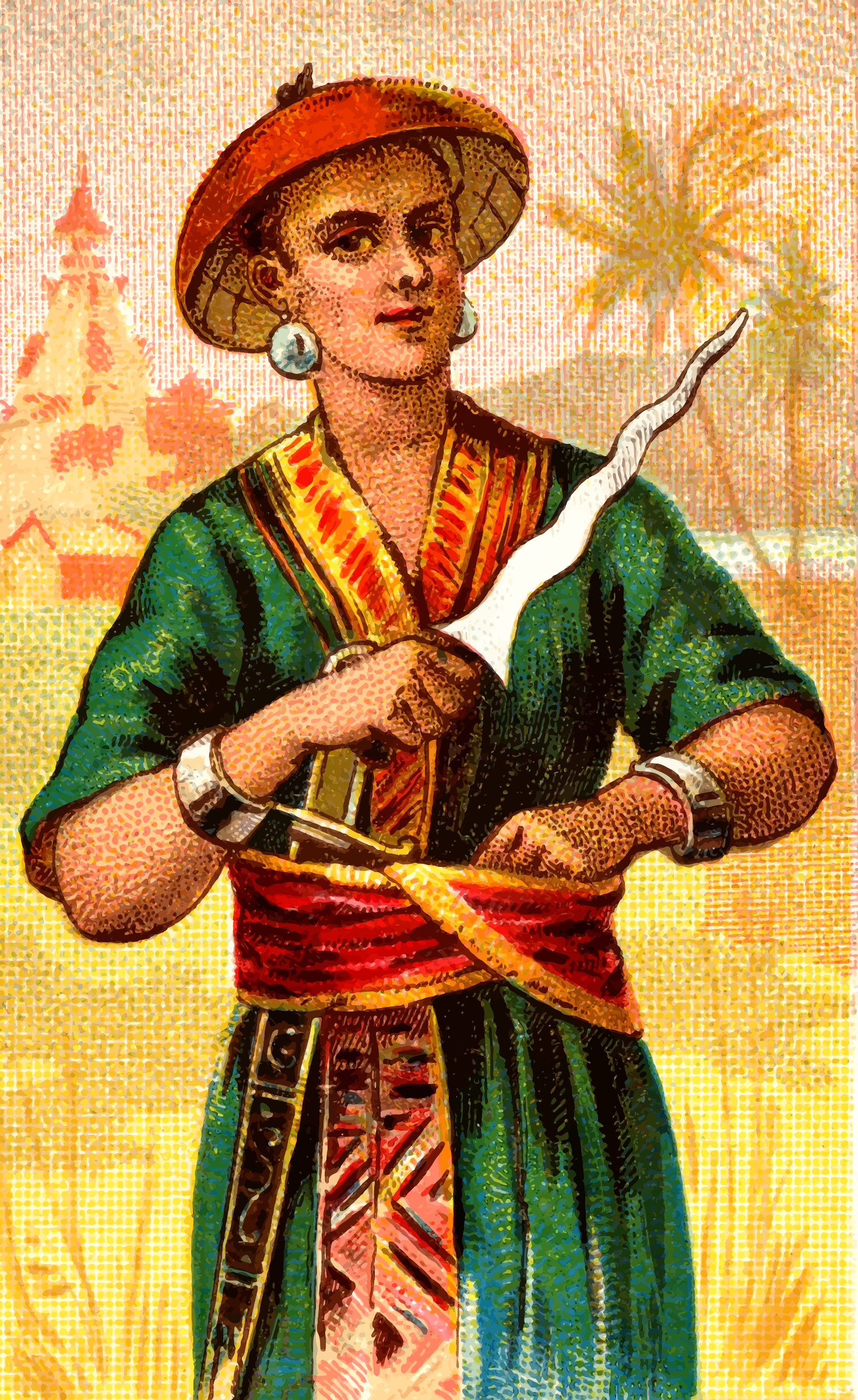 Cigarette card - Malay Creese by Firkin