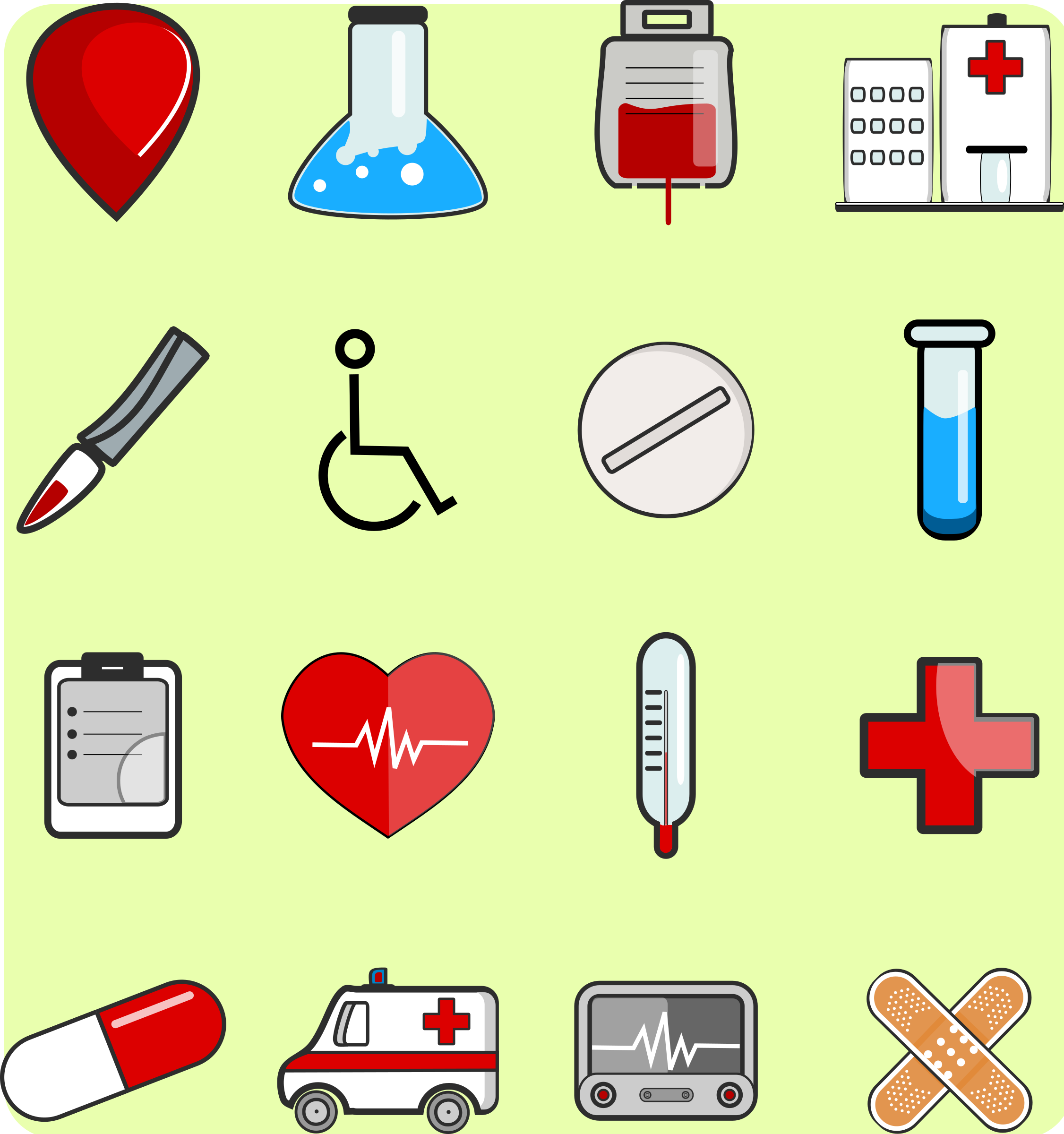 Medical Icons package 1 by inkscapeforum.it