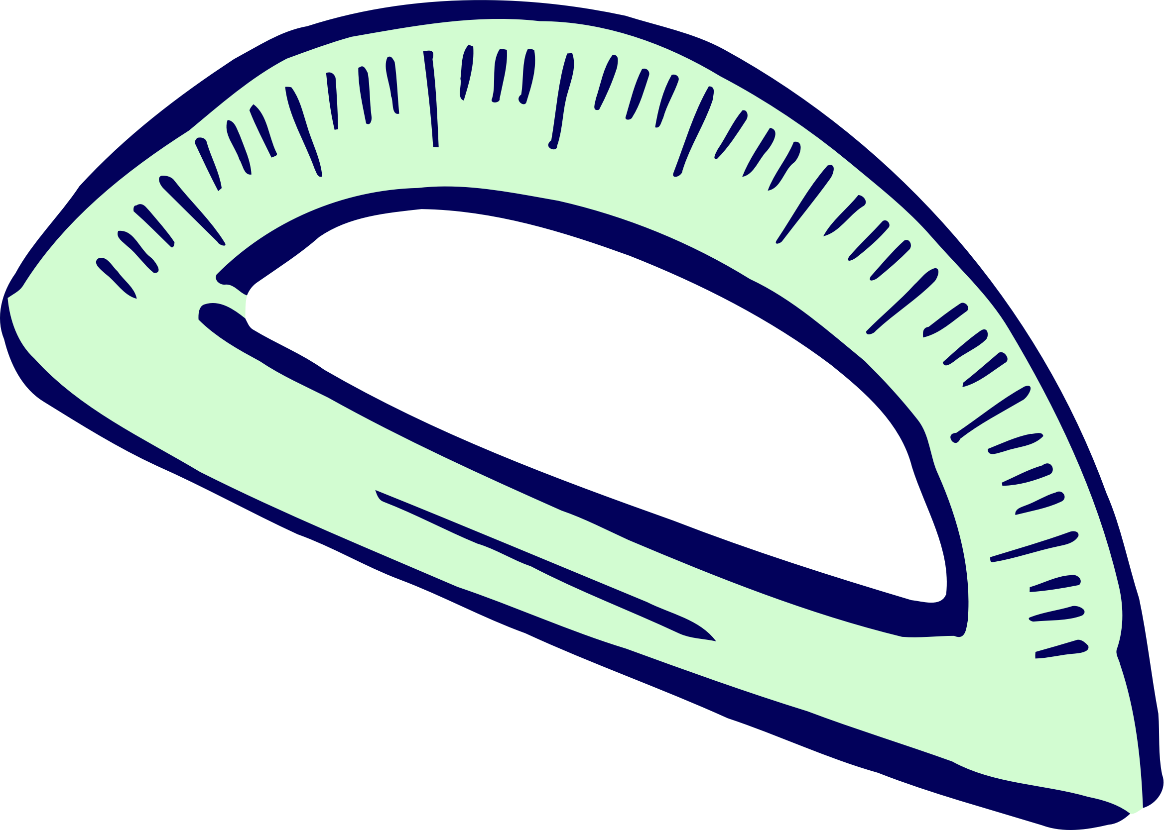 Roughly drawn protractor by Firkin