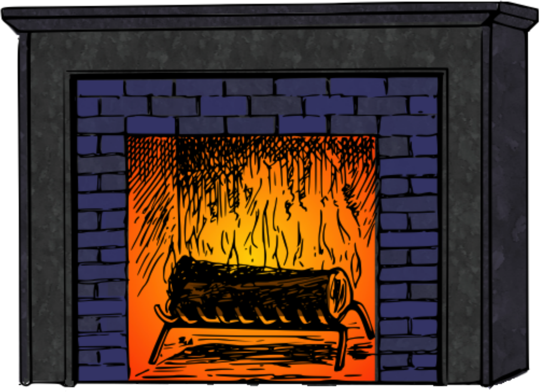 Fireplace 2 colored by Matherton
