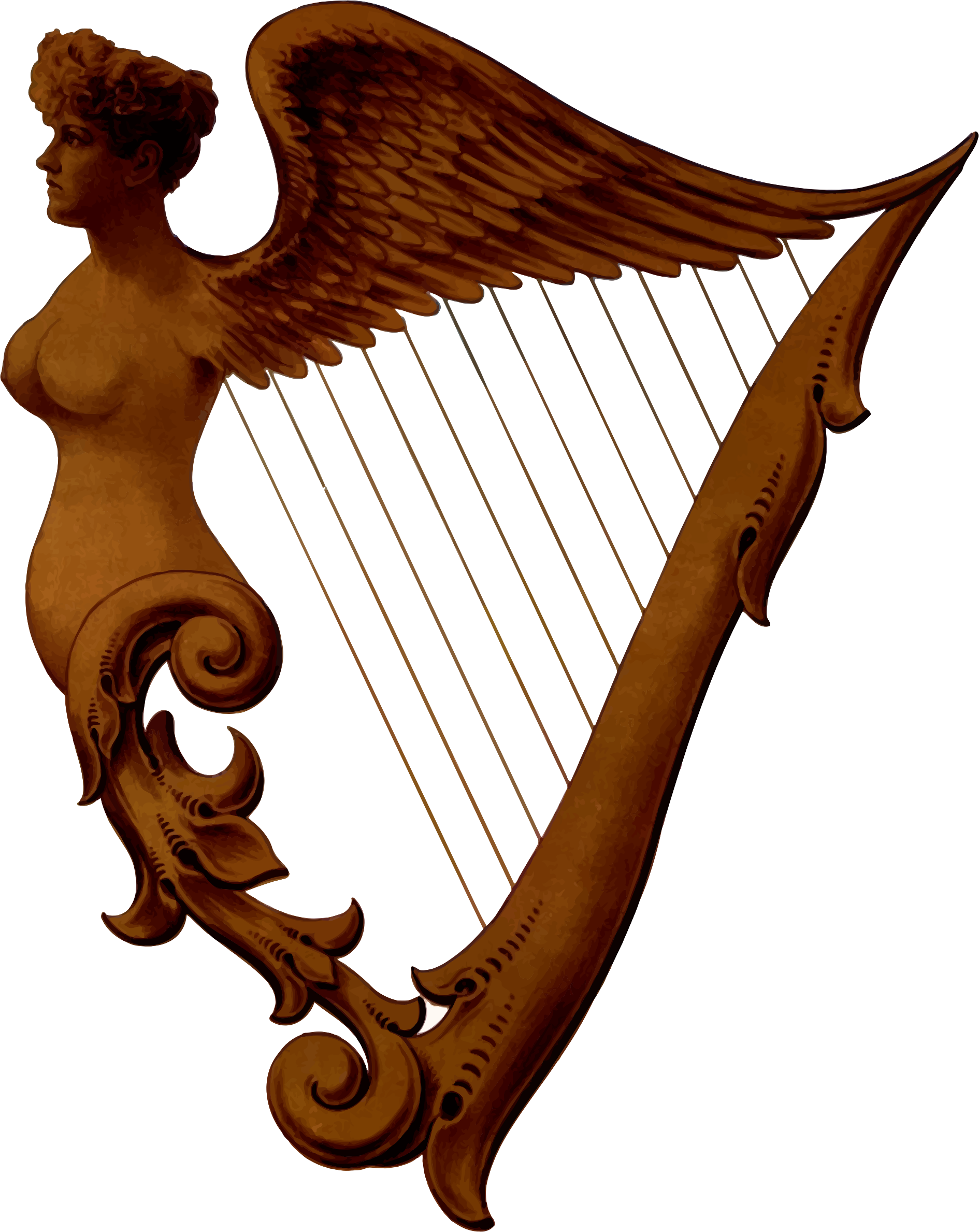 Irish harp by Firkin