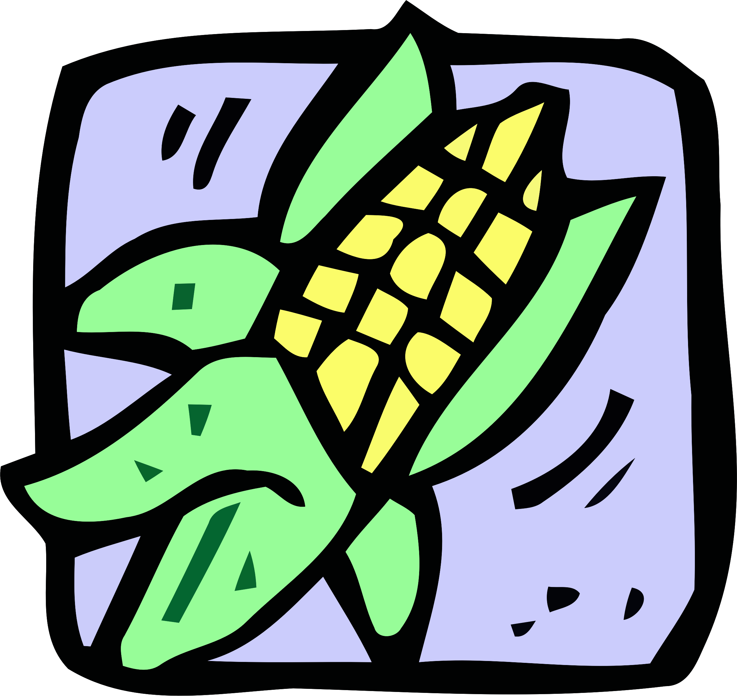 Food and drink icon - sweetcorn by Firkin