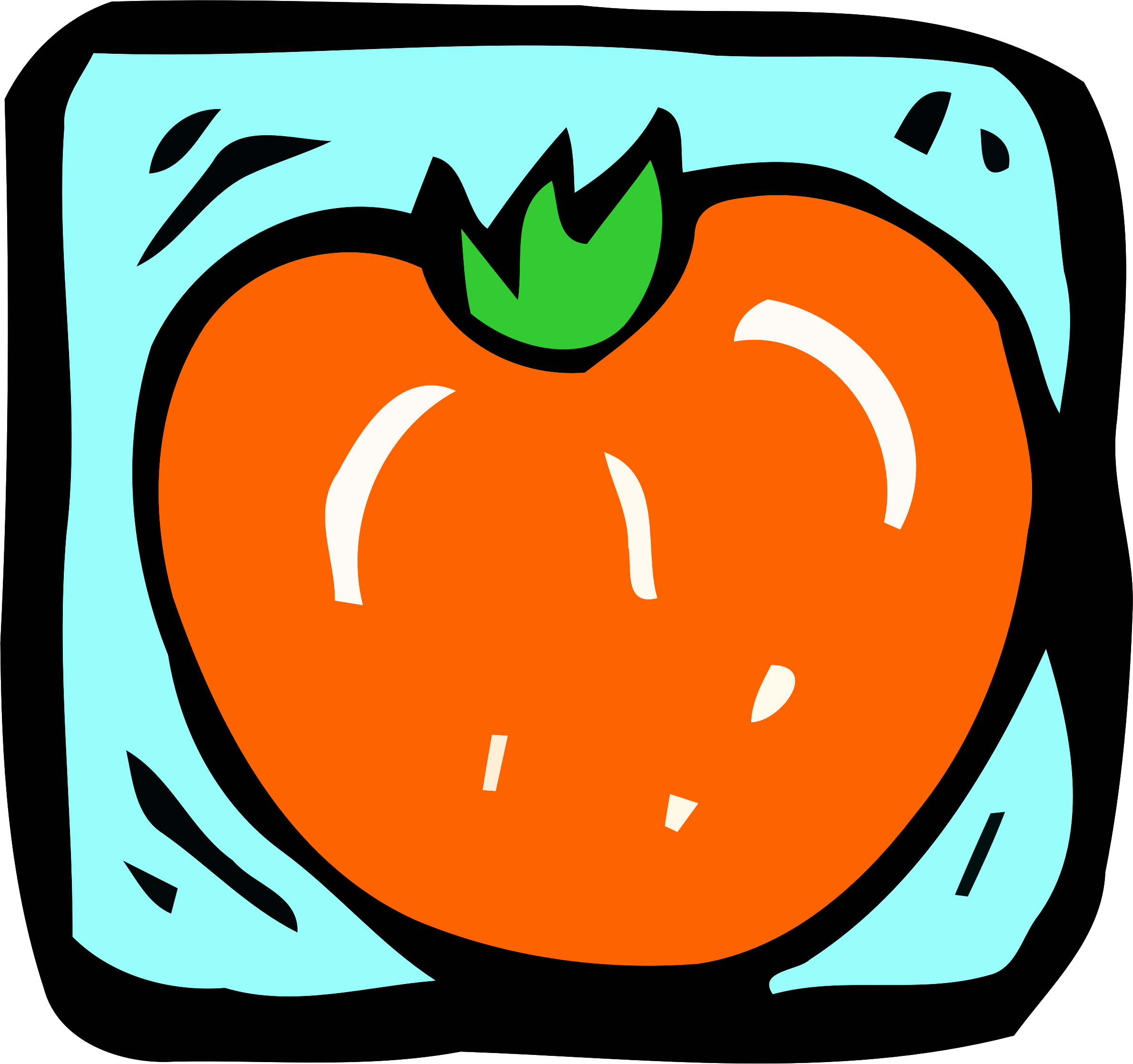 Food and drink icon - persimmon by Firkin