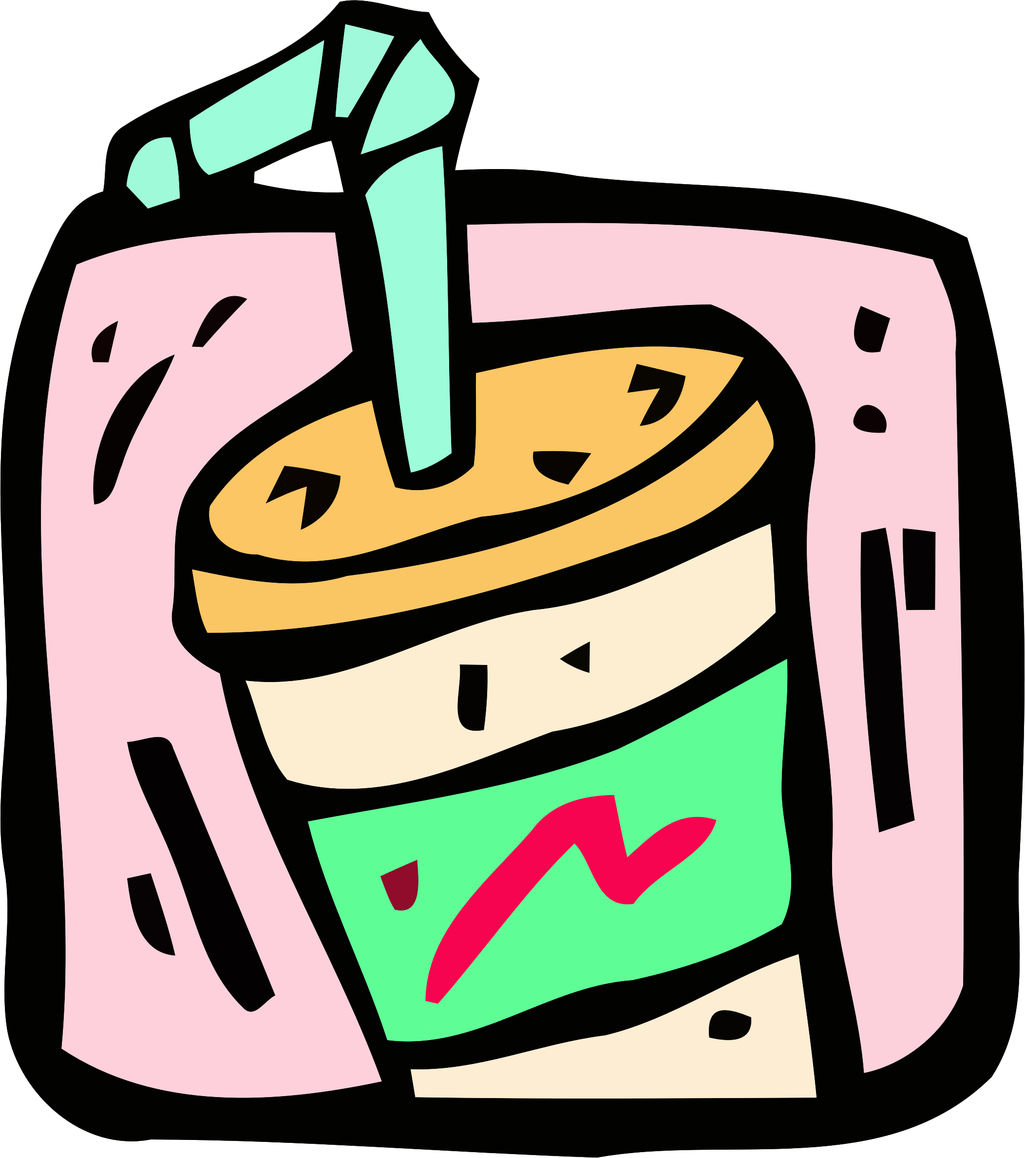 Food and drink icon - milkshake by Firkin